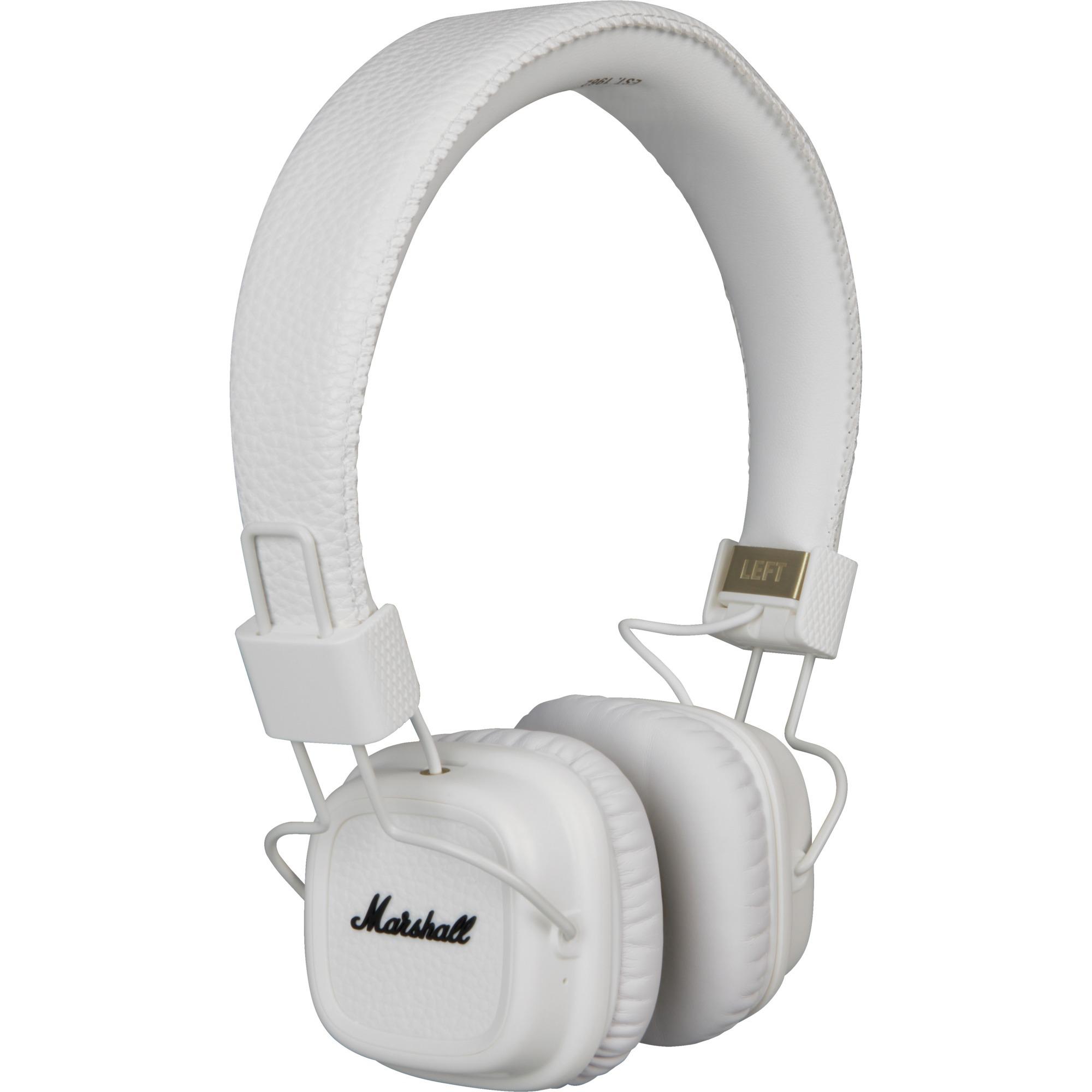 Major II Bluetooth Diadema Binaurale Alámbrico Blanco auriculares para móvil, Auriculares con micrófono