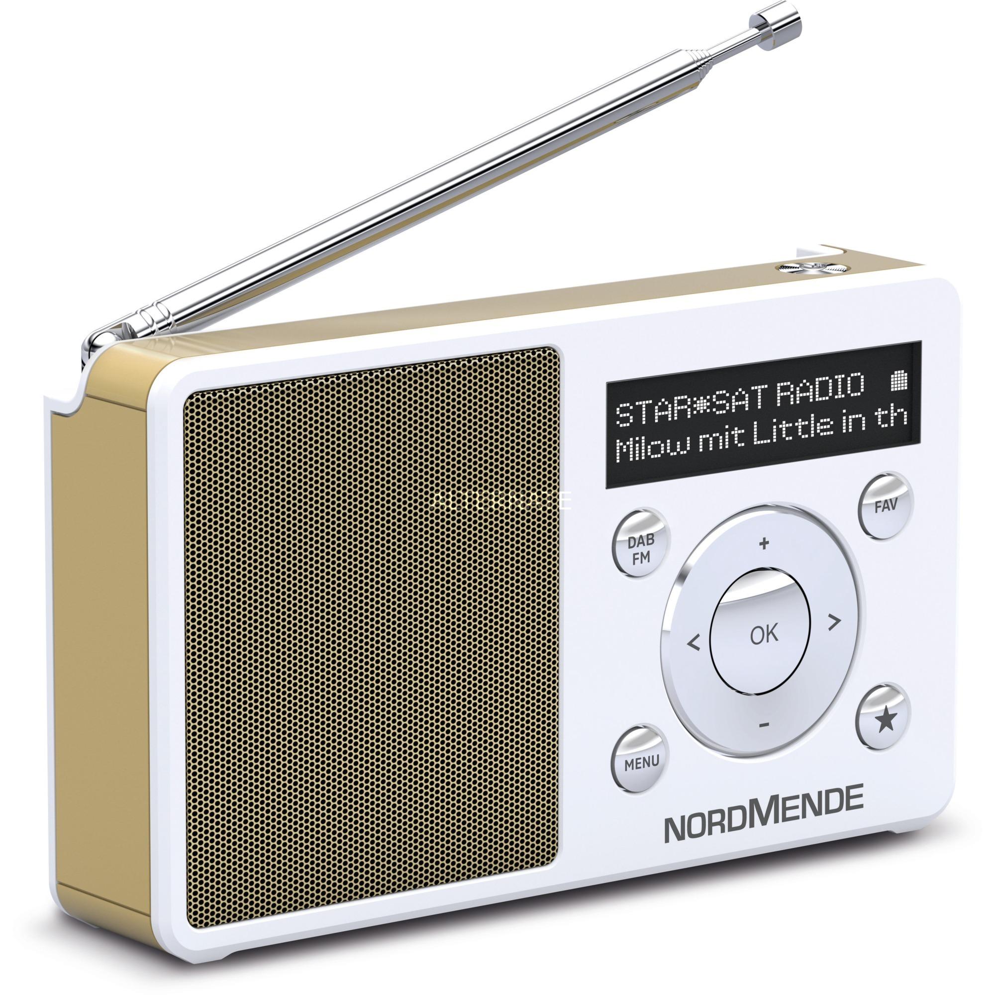 Transita 100 radio Portátil Digital Oro, Blanco