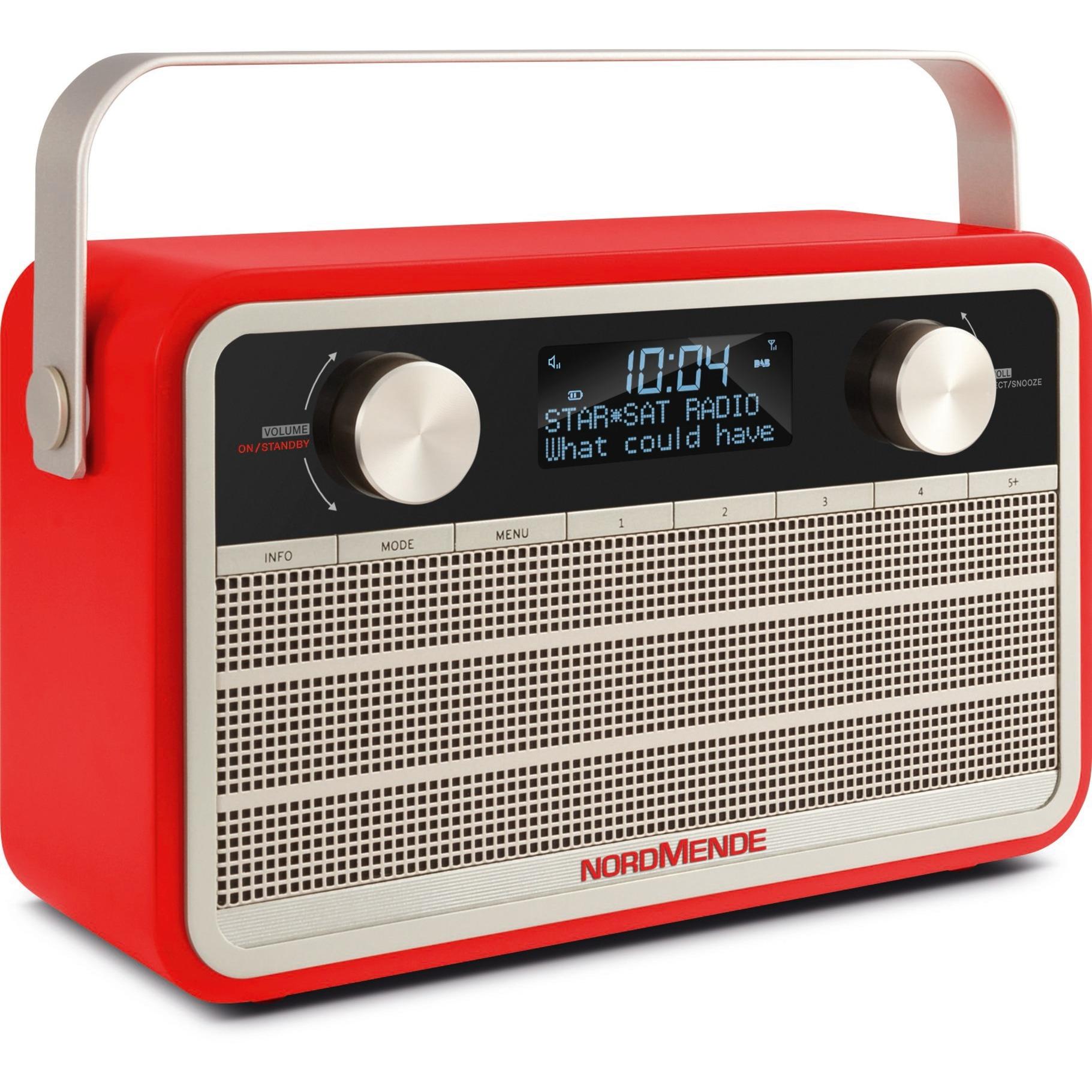 Transita 120 radio Portátil Digital Beige, Rojo
