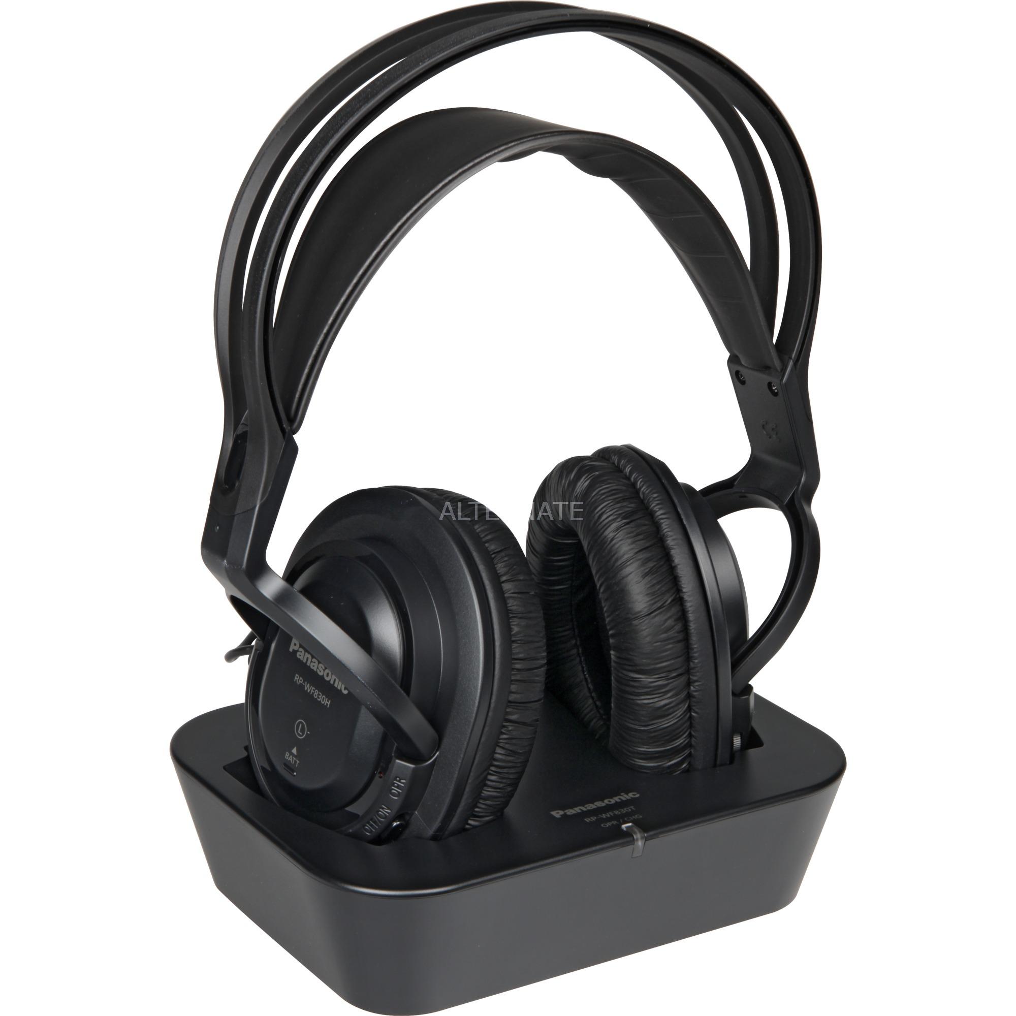 RP-WF830E Negro Circumaural Diadema auricular, Auriculares
