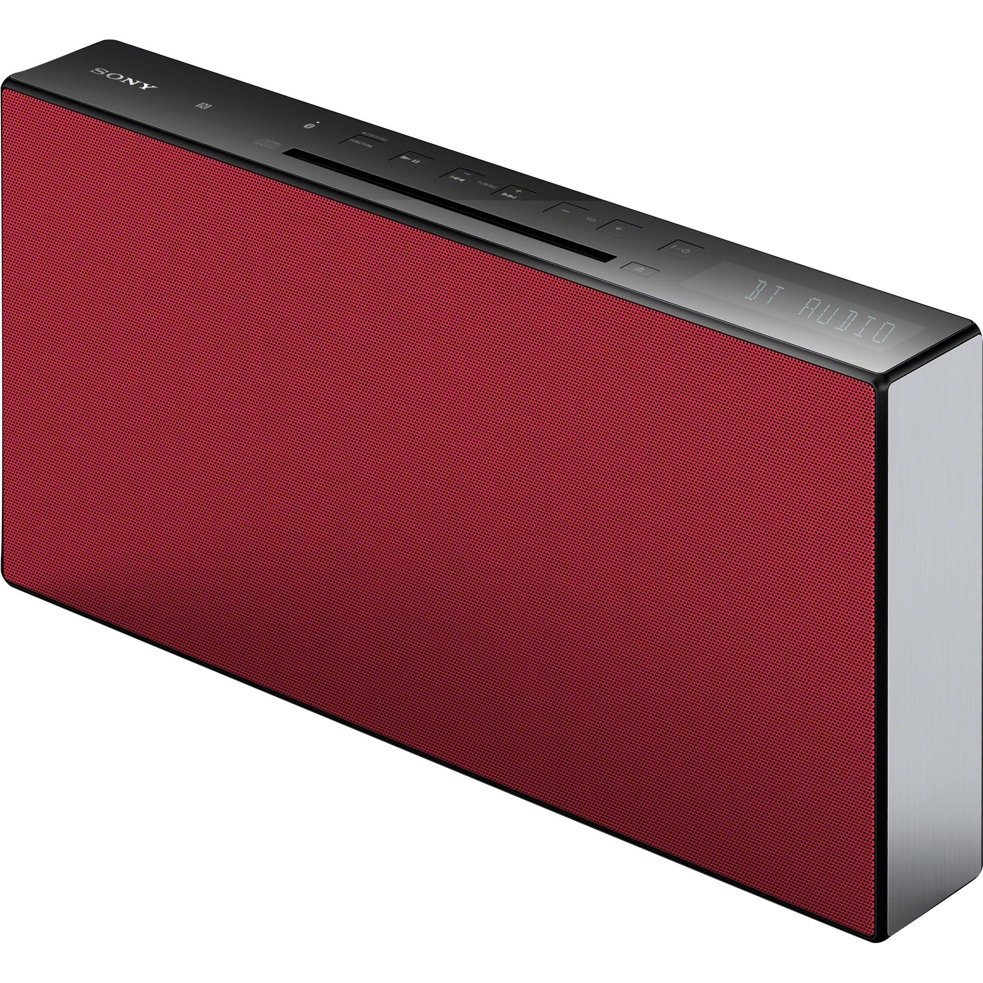 CMT-X3CD Minicadena de música para uso doméstico Rojo 20 W, Equipo compacto