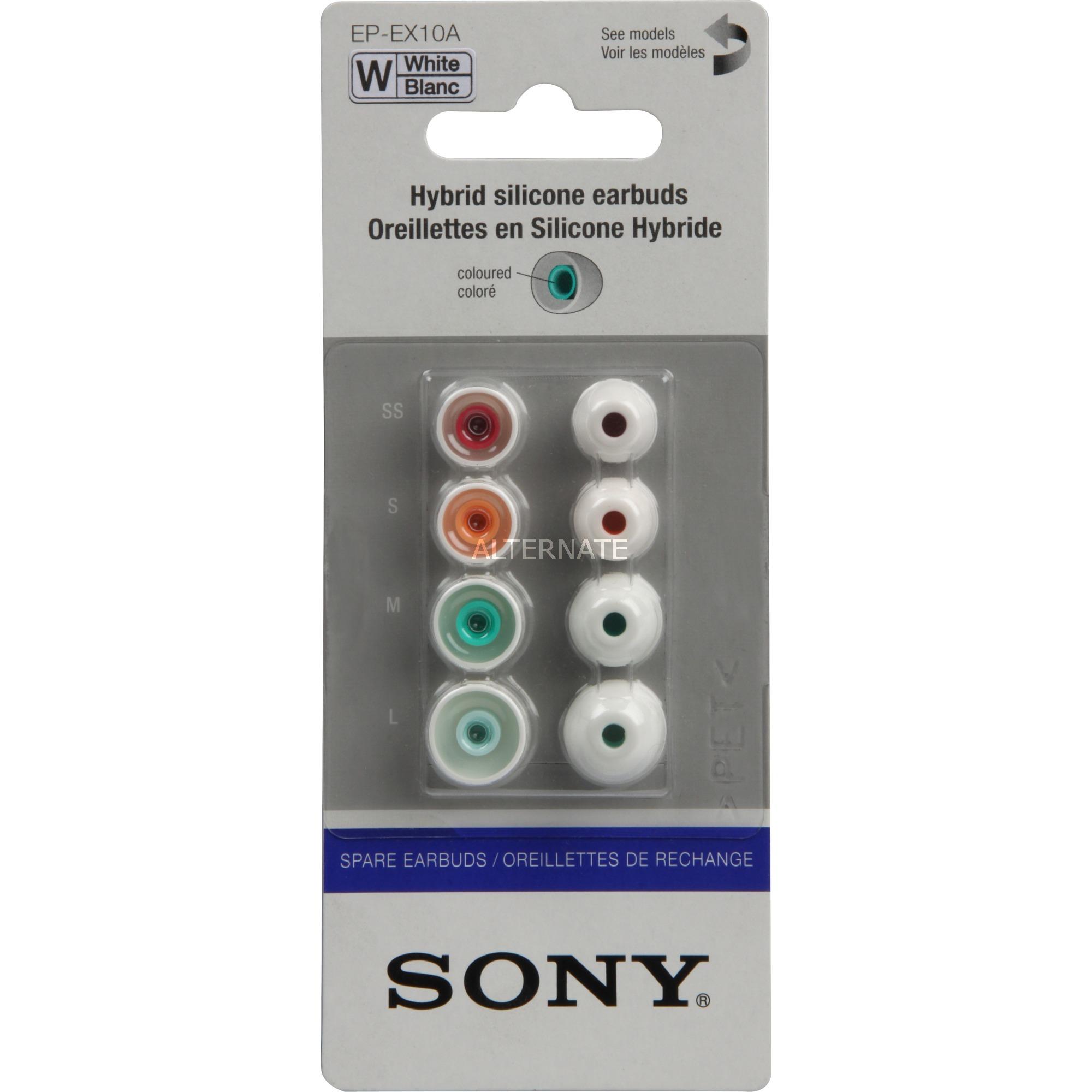 EP-EX10A almohadilla para auriculares Blanco 4 pieza(s), Piezas de repuesto