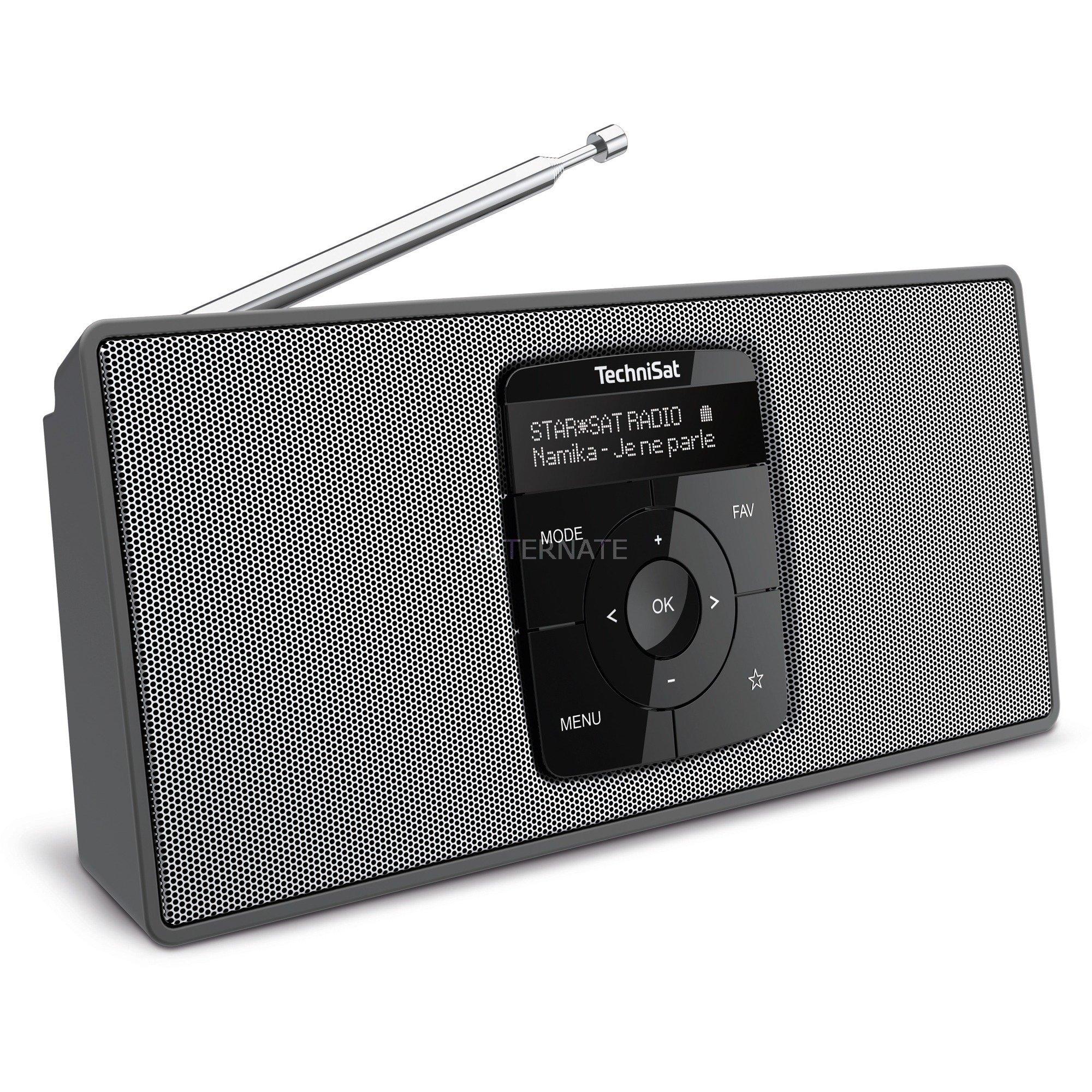 0000/3911 radio Portátil Digital Negro, Plata