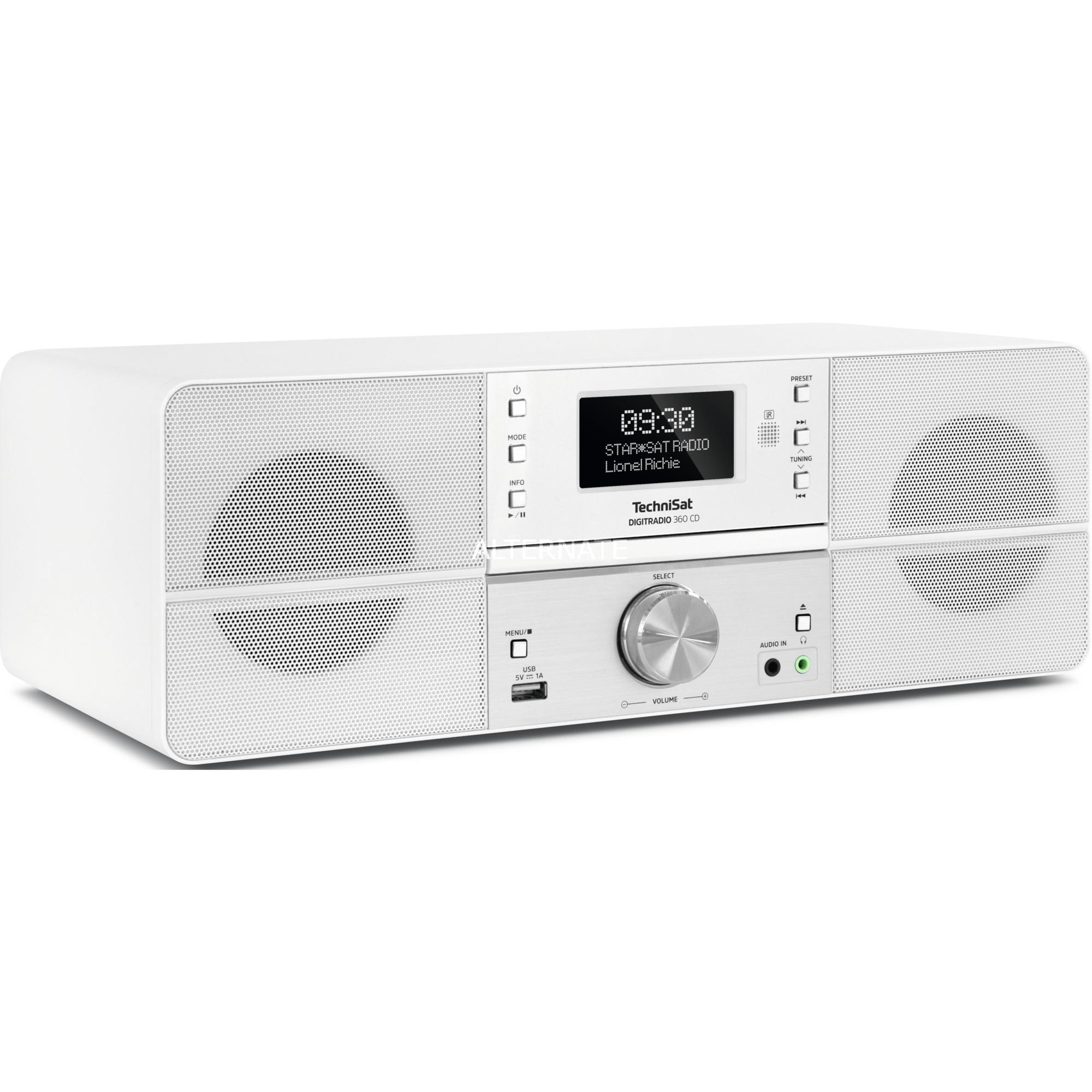 0001/4990 sistema estéreo portátil Digital 10 W Blanco, Radio