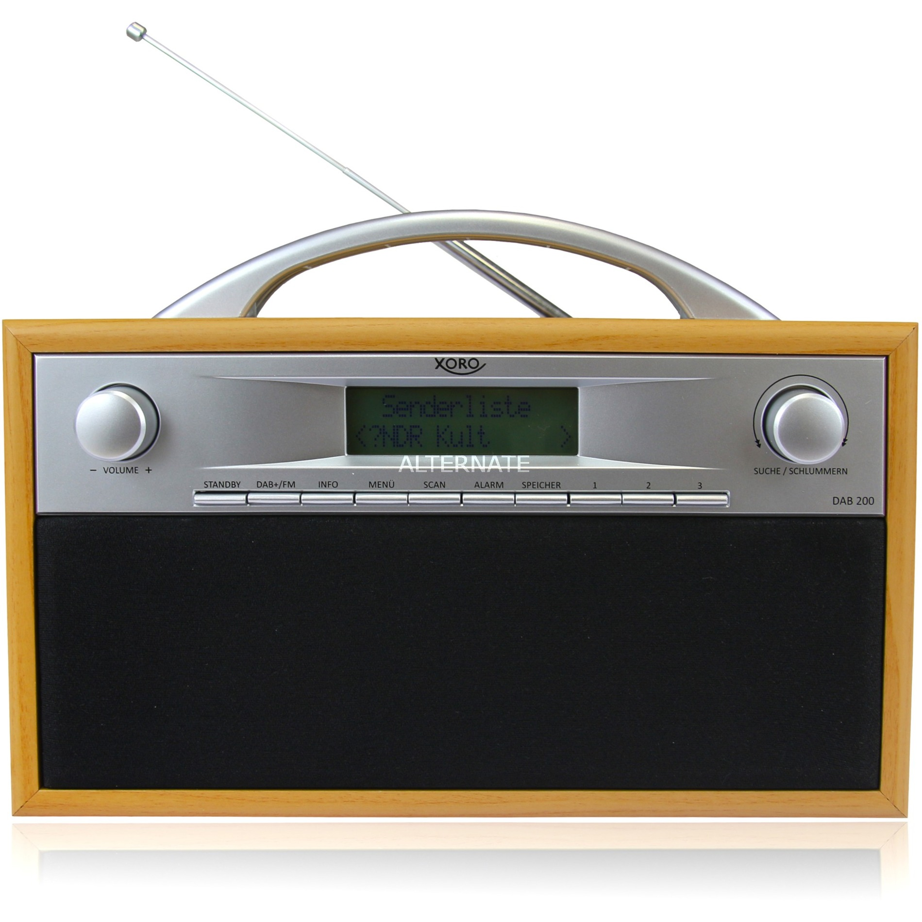 DAB 200 radio Portátil Digital Negro, Gris