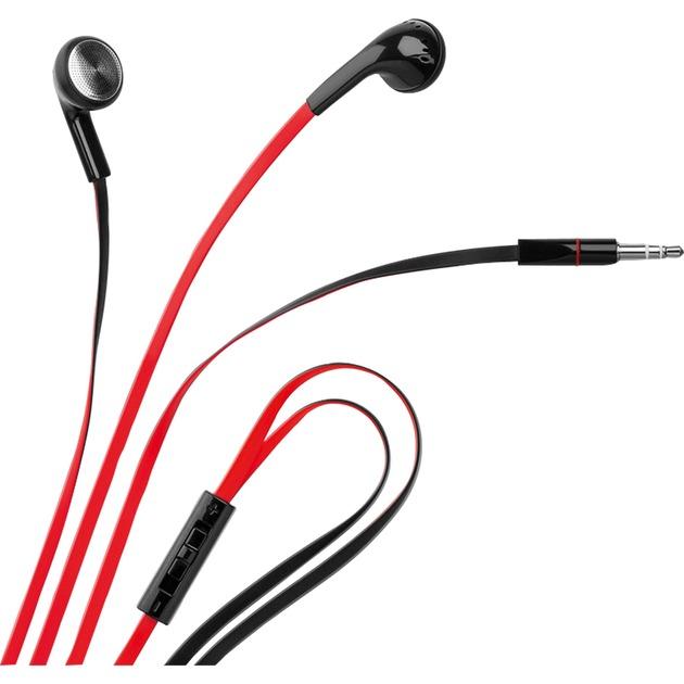40660 auricular Intraaural Dentro de oído Negro, Rojo, Auriculares