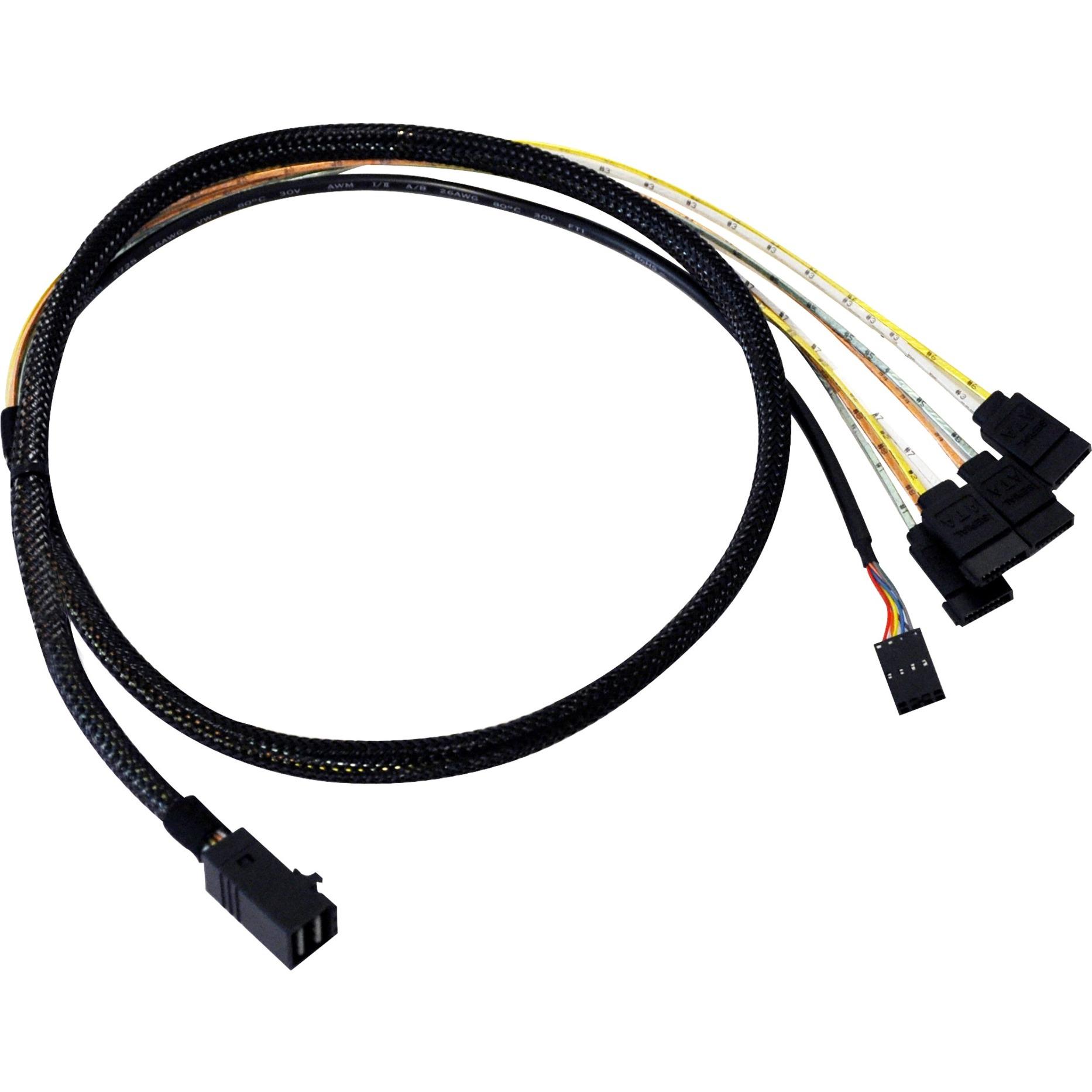 L5-00221-00 cable Serial Attached SCSI (SAS) 1 m Negro, Adaptador