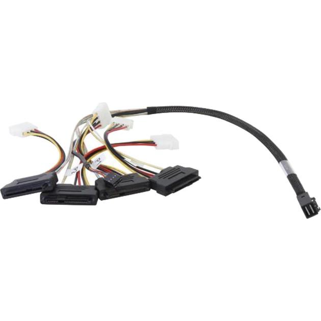 L5-00222-00 cable Serial Attached SCSI (SAS) 0,6 m Negro