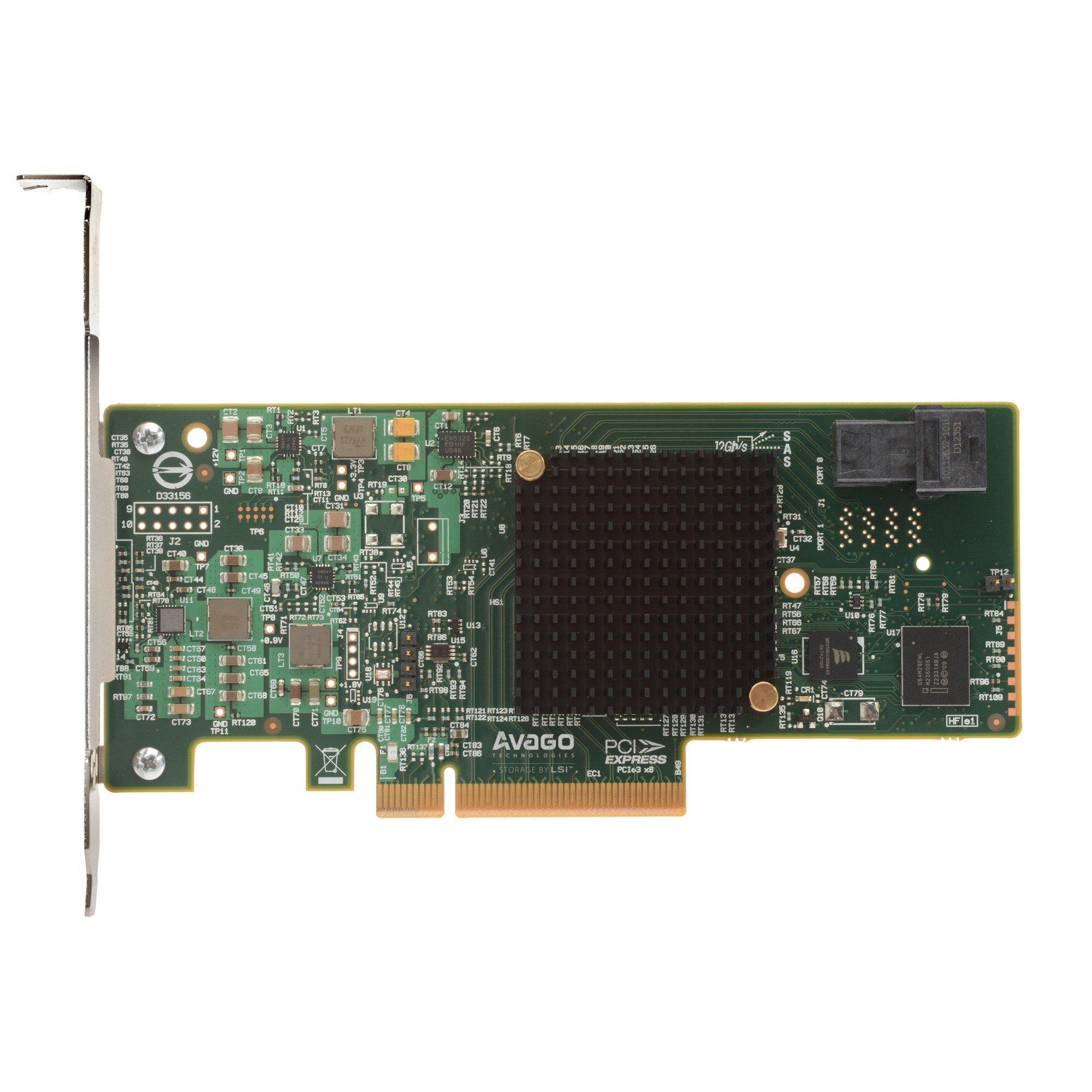 MegaRAID SAS 9341-4i controlado RAID PCI Express x8 3.0 12 Gbit/s, Controlador