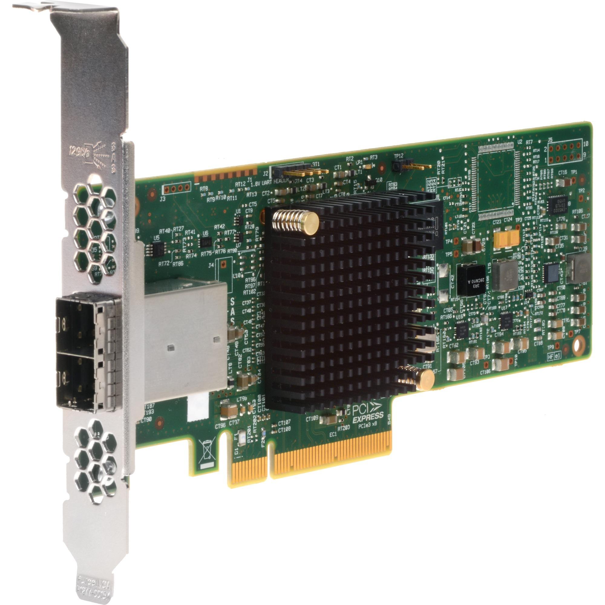 SAS 9300-8e tarjeta y adaptador de interfaz mini SAS Interno, Controlador