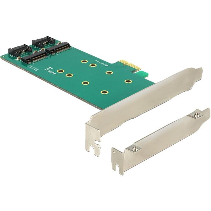 2x 67-pin M.2 key B - 2x SATA 7-pin tarjeta y adaptador de interfaz Interno