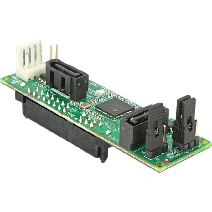 62466 adaptador de cable SATA 2xSATA Negro, Verde, Controlador