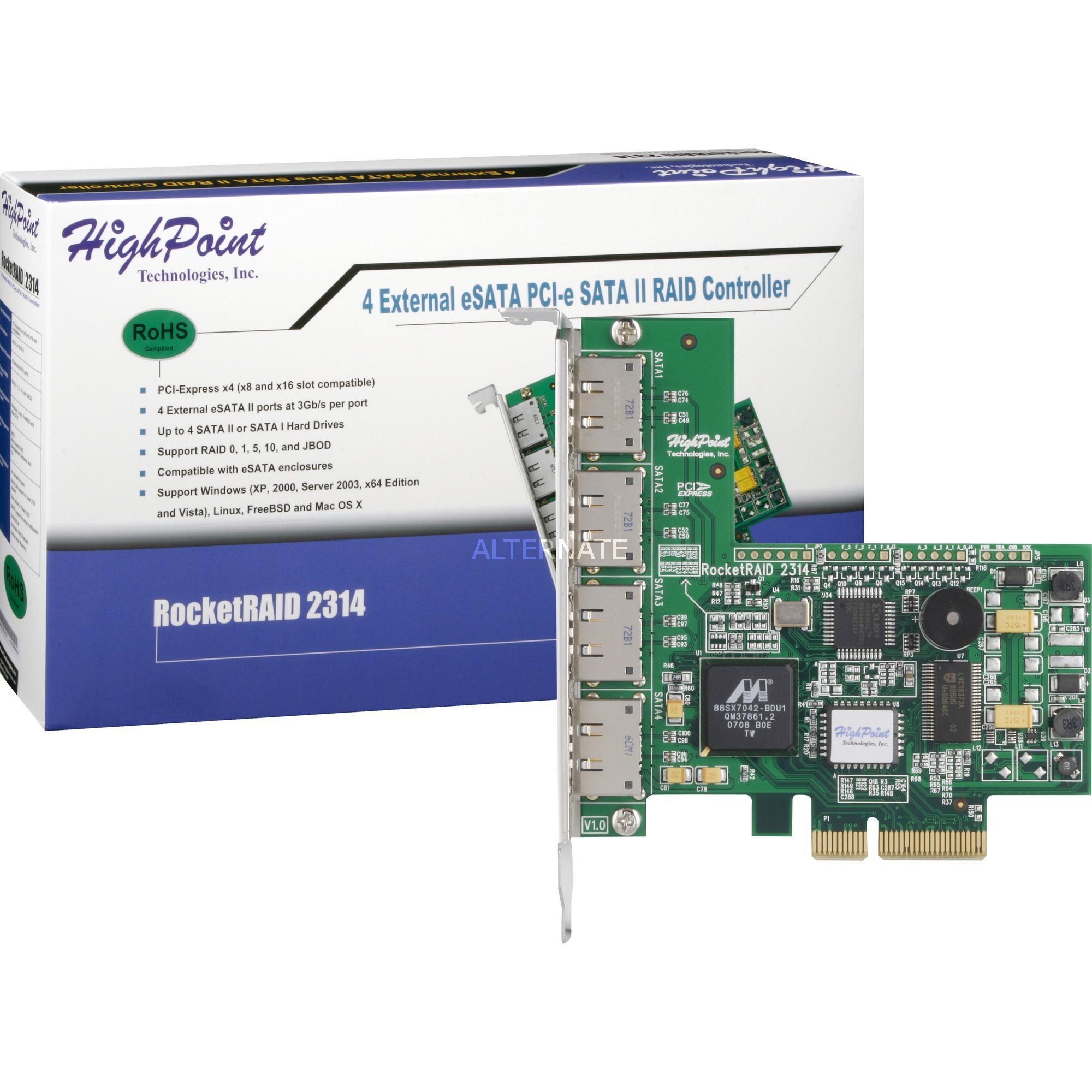 RocketRAID 2314 3Gbit/s controlado RAID, Controlador