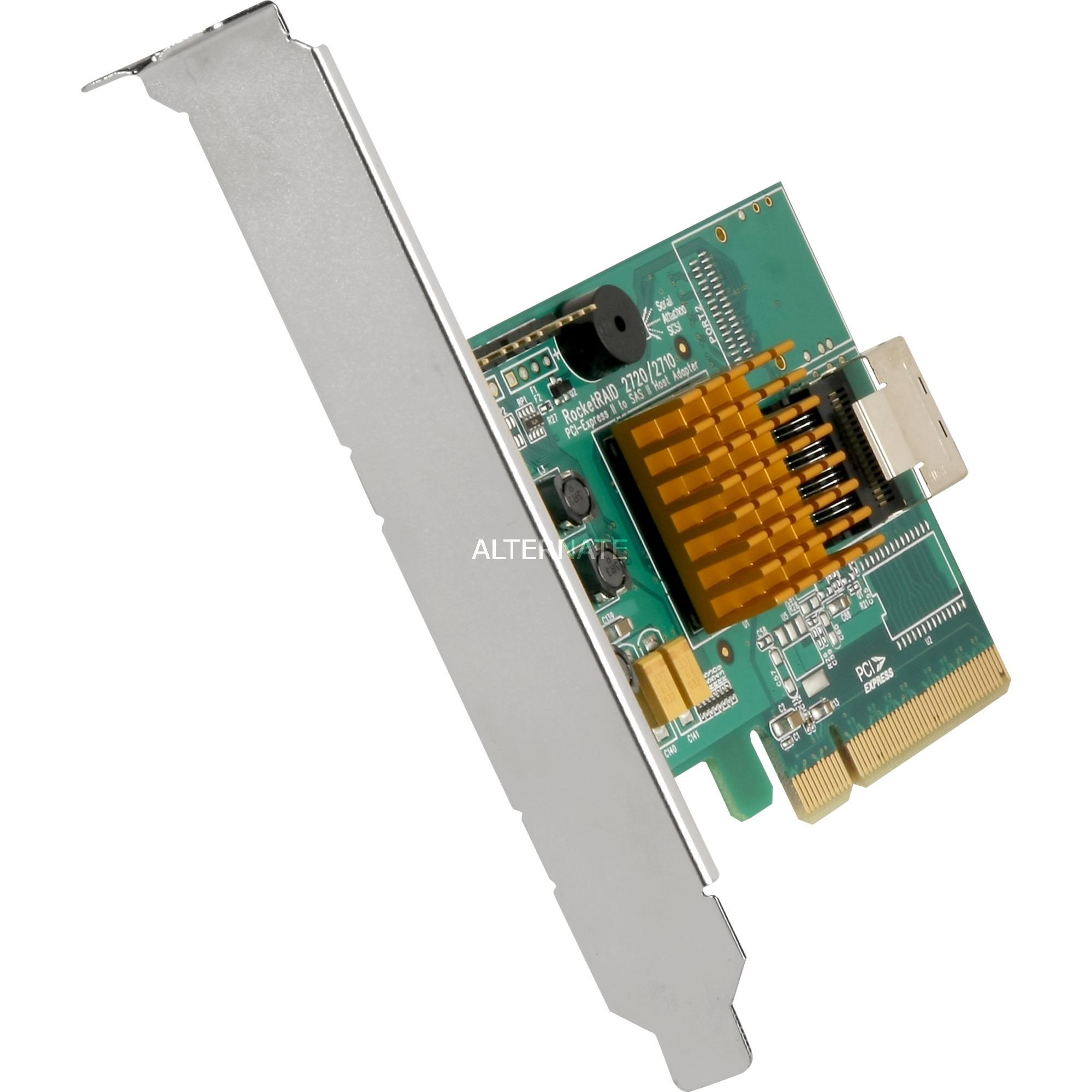 RocketRAID 2710 PCI Express x8 6Gbit/s controlado RAID, Controlador
