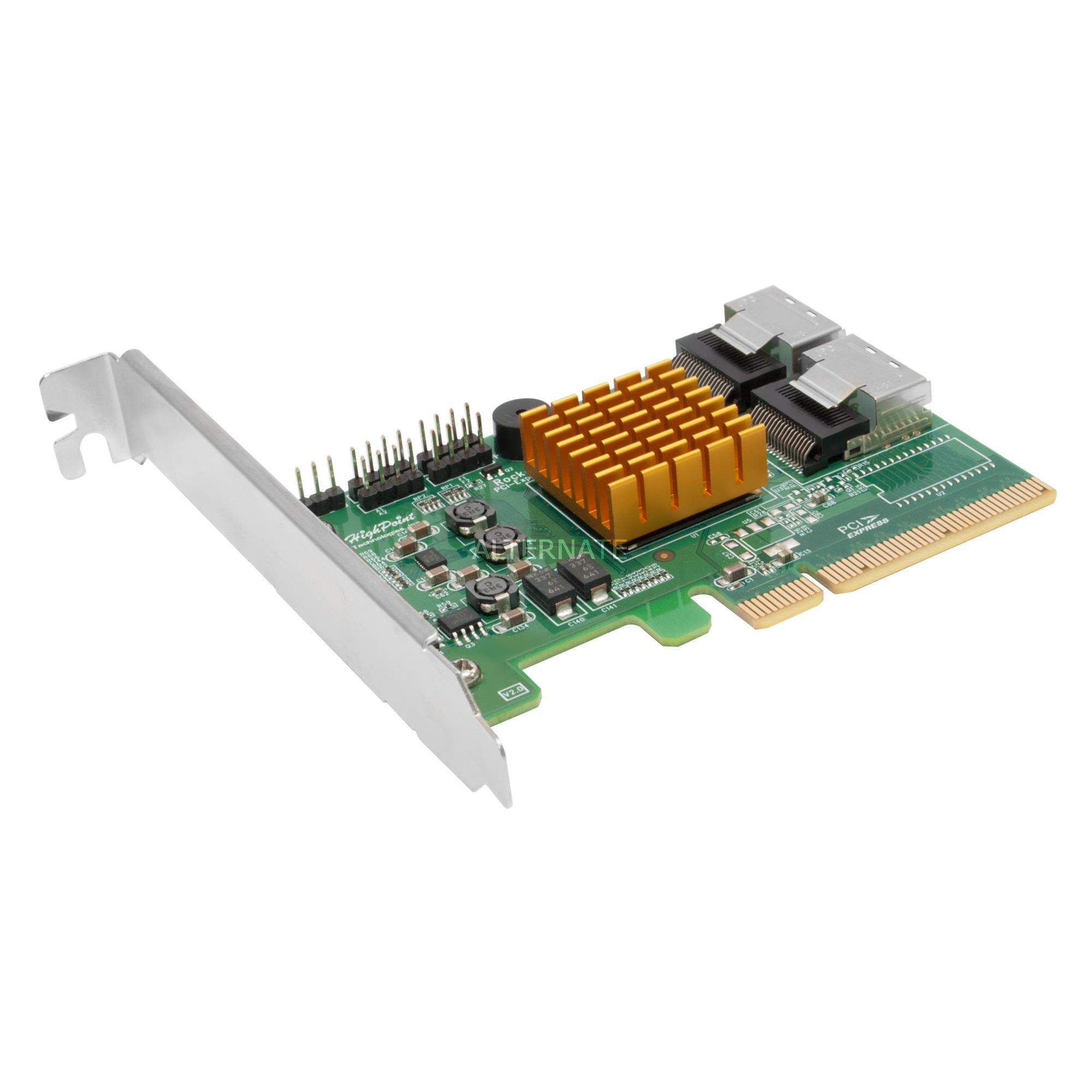 RocketRAID 2720SGL tarjeta y adaptador de interfaz mini SAS Interno, Controlador