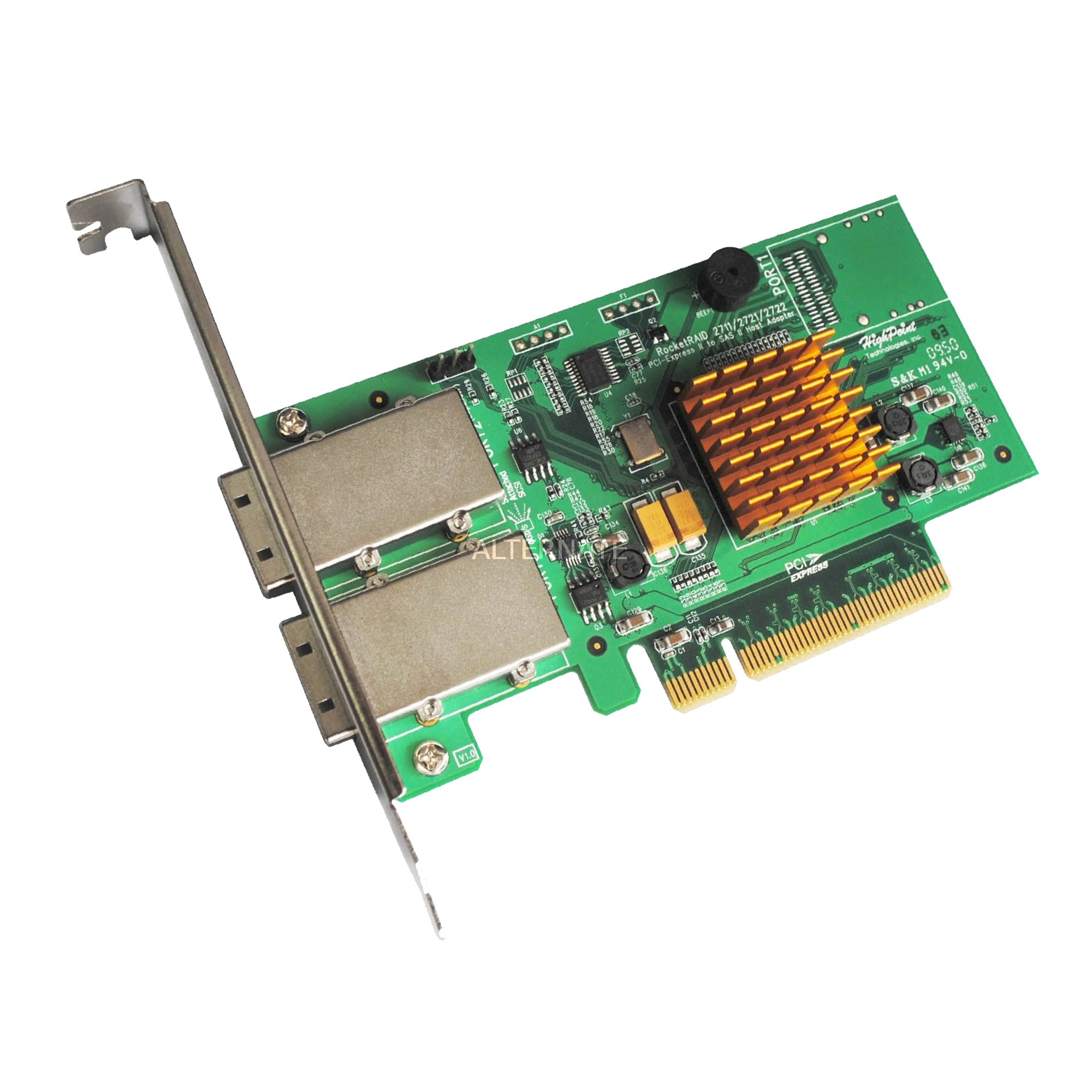RocketRAID 2722 controlado RAID PCI Express x8 6 Gbit/s, Controlador
