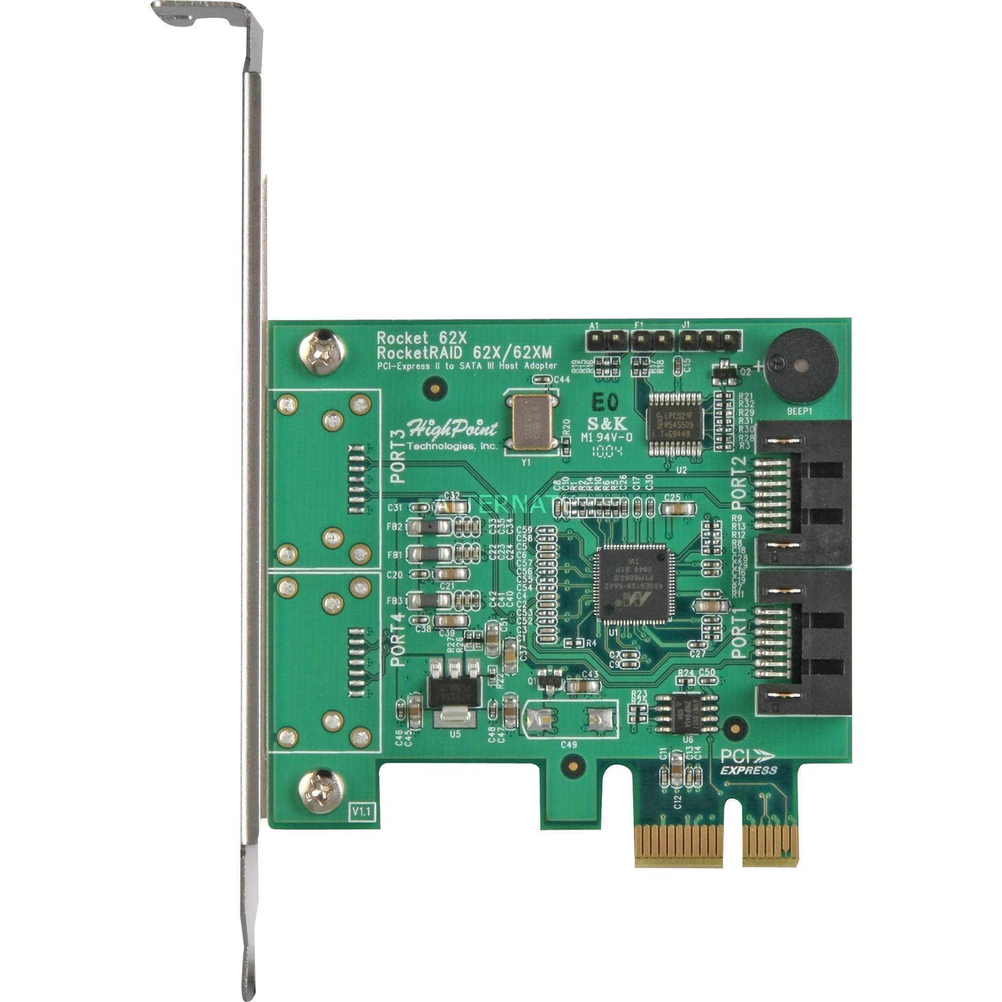 RocketRAID 620 tarjeta y adaptador de interfaz Interno SATA, Controlador
