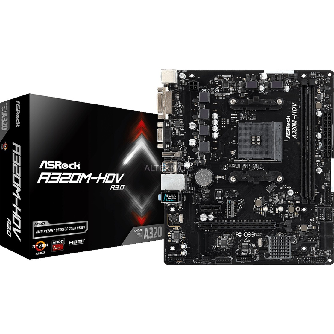 A320M-HDV R3.0 placa base Zócalo AM4 Micro ATX AMD A320