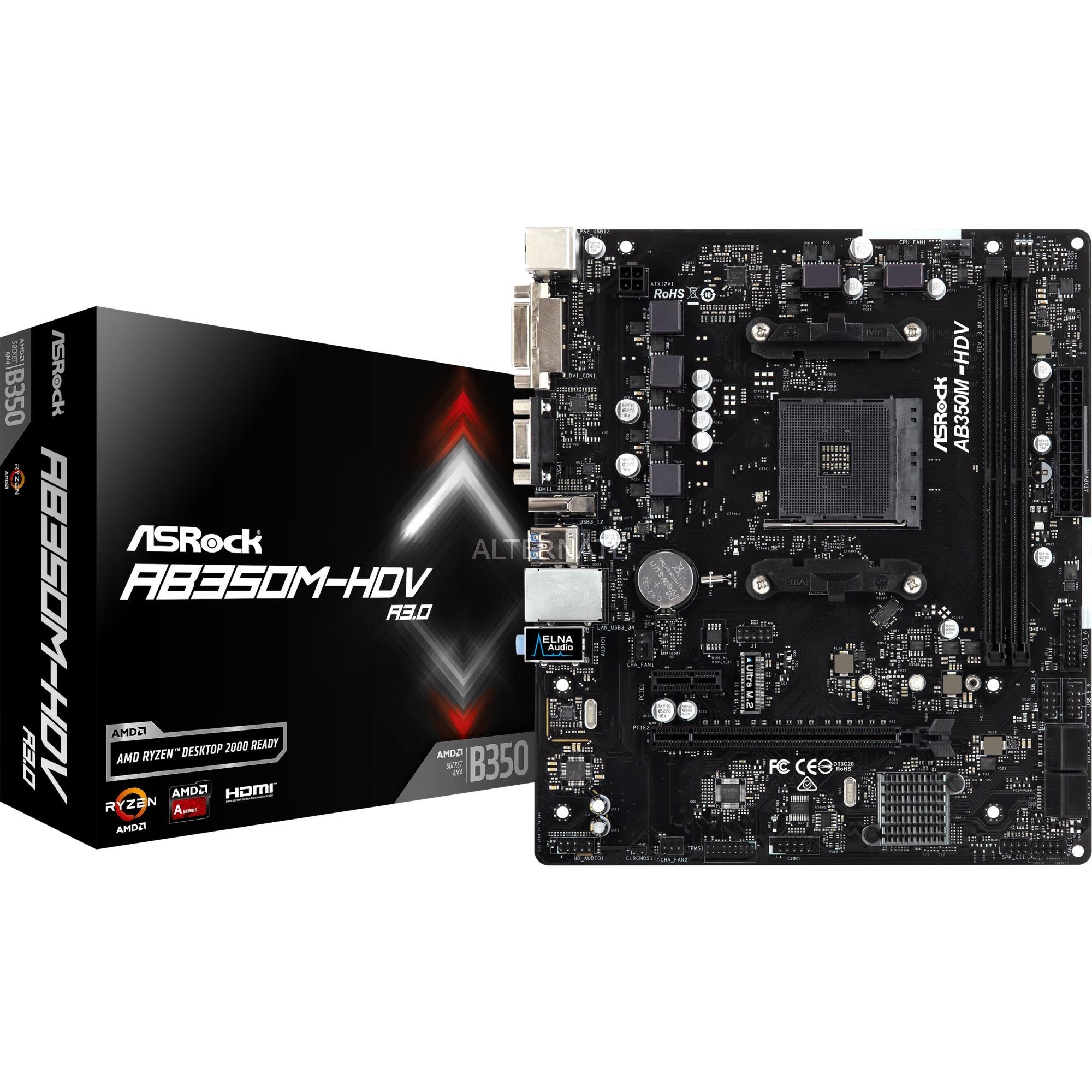 A320M-HDV R3.0 placa base Zócalo AM4 Micro ATX AMD A320