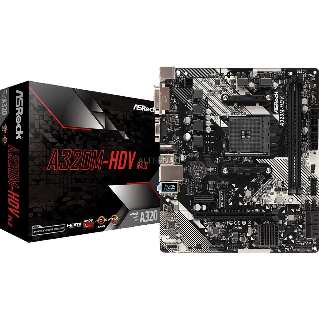 A320M-HDV R4.0 placa base Zócalo AM4 Micro ATX AMD A320