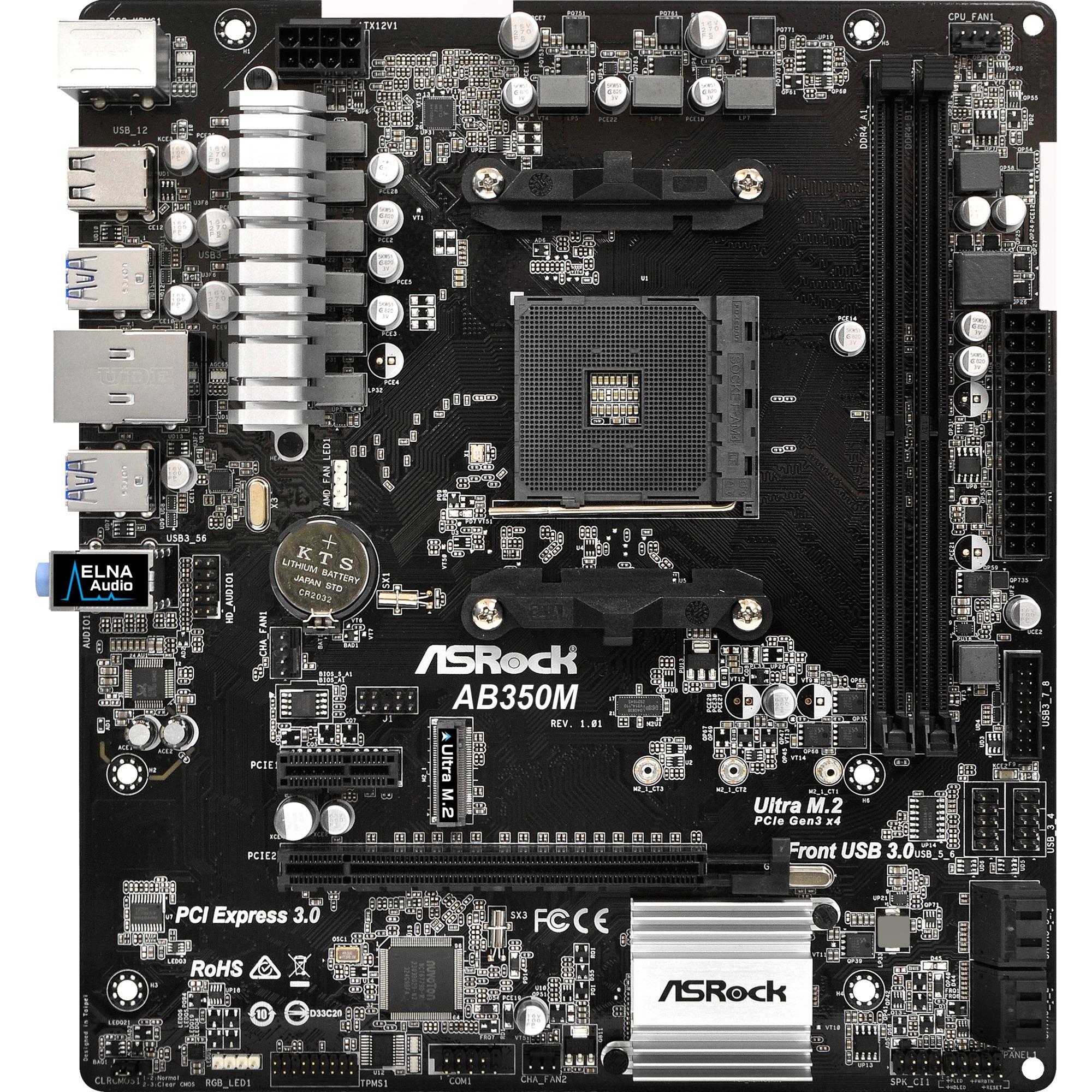 AB350M AMD B350 Zócalo AM4 Micro ATX, Placa base