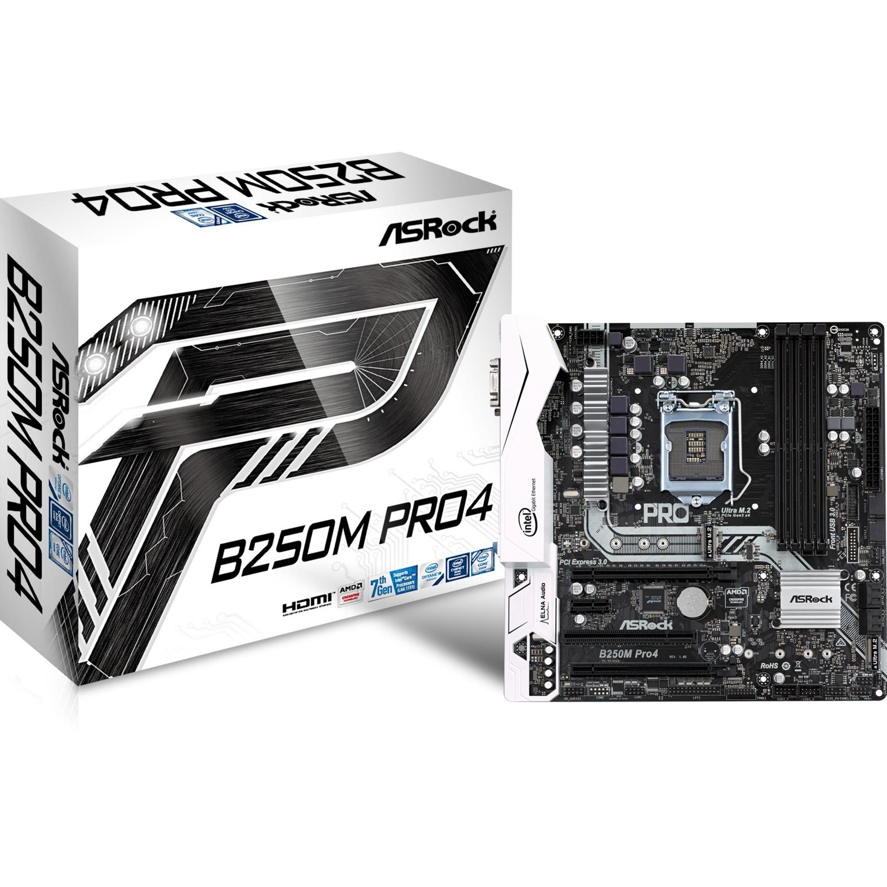 B250M Pro4 Intel B250 LGA 1151 (Zócalo H4) Micro ATX, Placa base