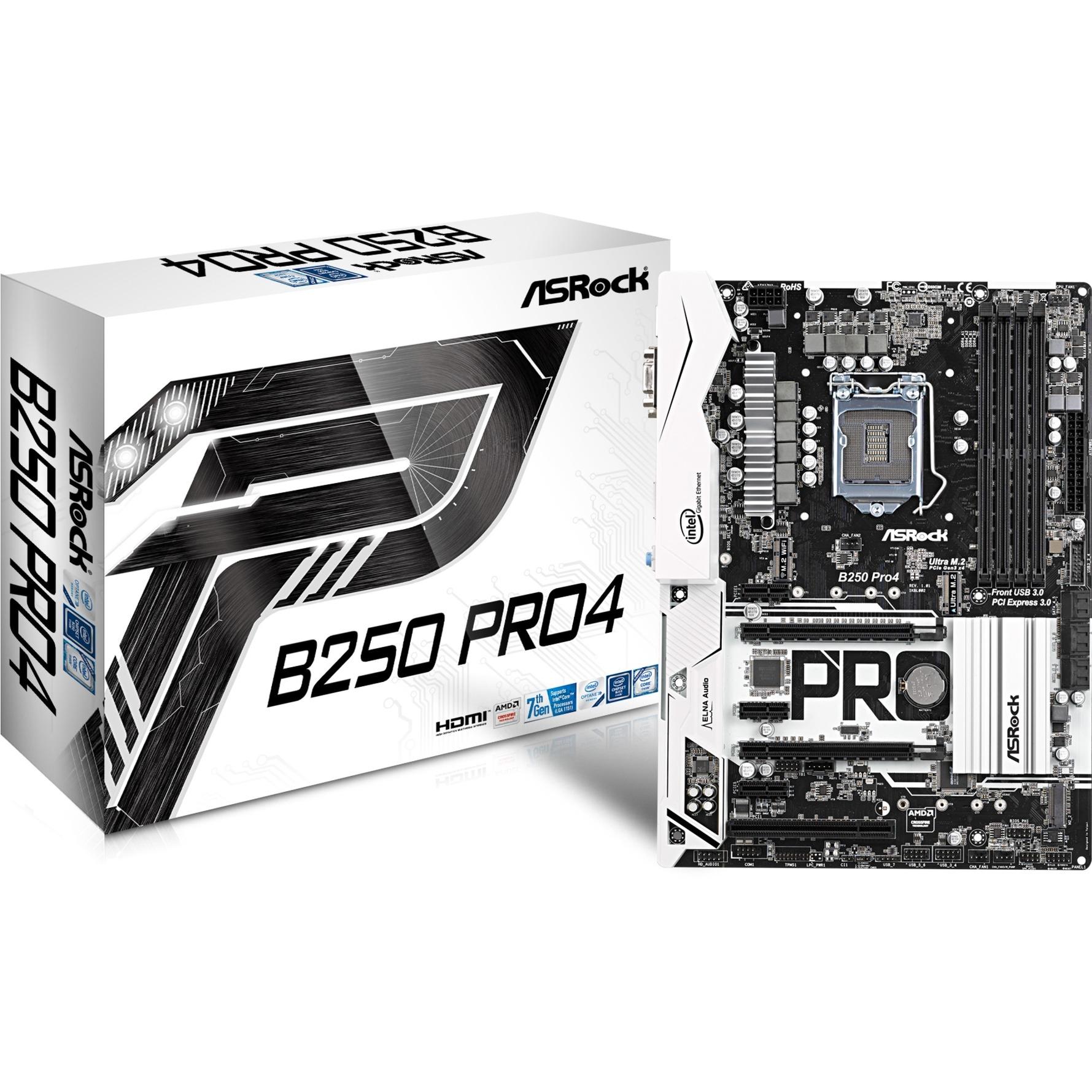 B250 Pro4 Intel B250 LGA 1151 (Zócalo H4) ATX, Placa base