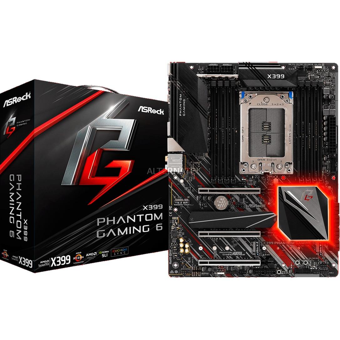 X399 Phantom Gaming 6 placa base Socket TR4 ATX AMD X399