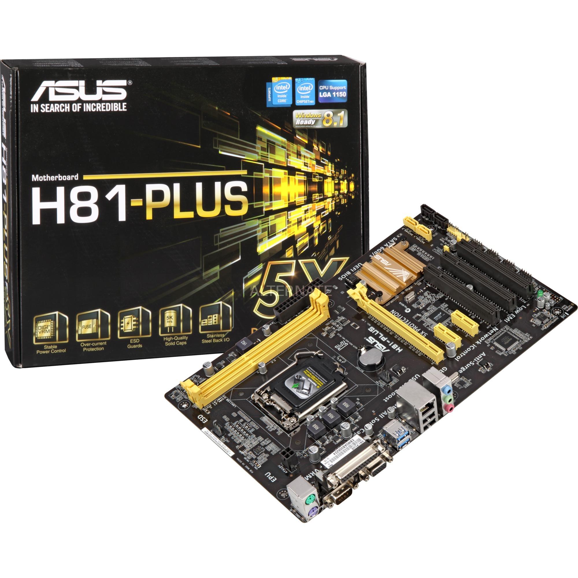 H81-PLUS LGA 1150 (Zócalo H3) Intel H81 ATX, Placa base