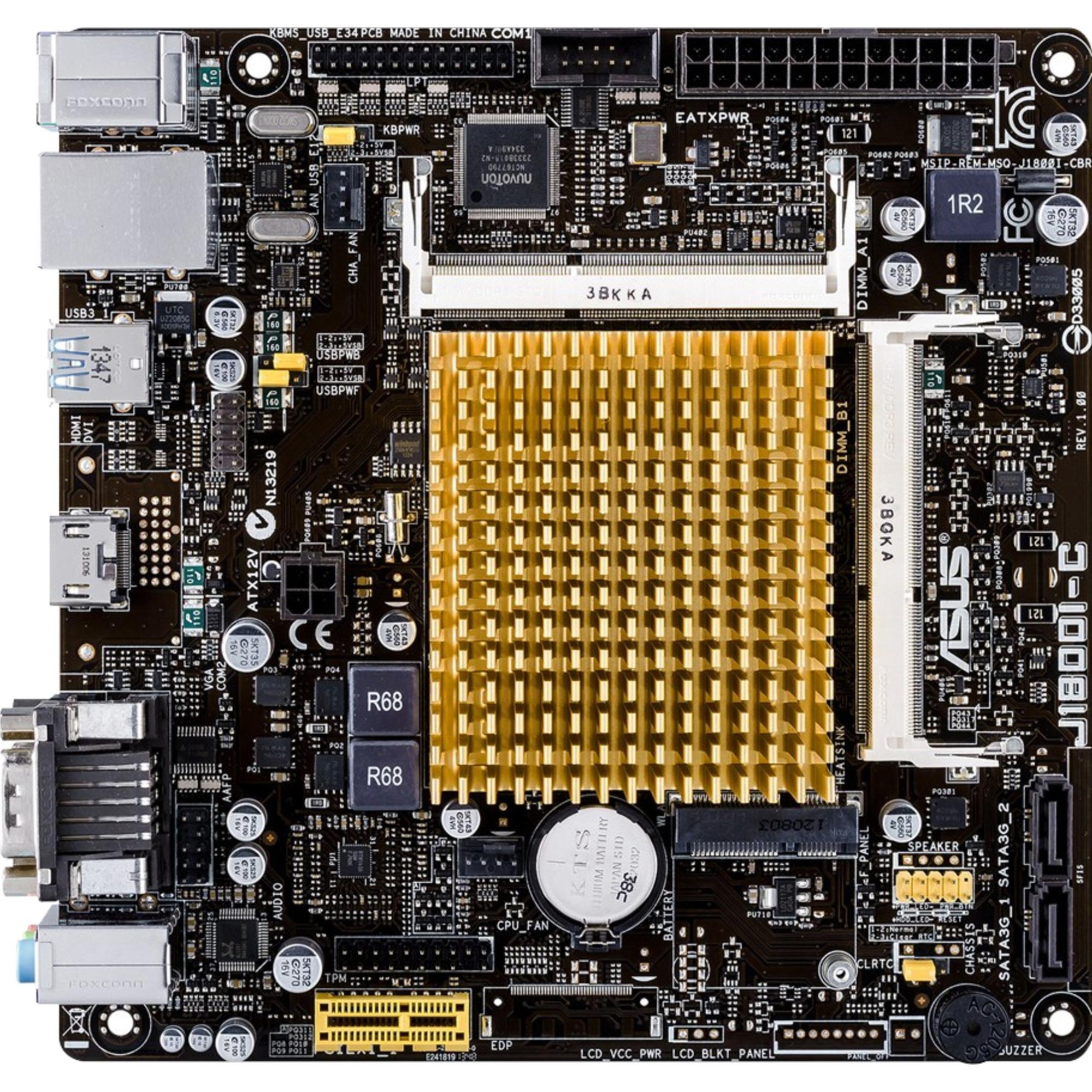J1800I-C mini ITX, Placa base