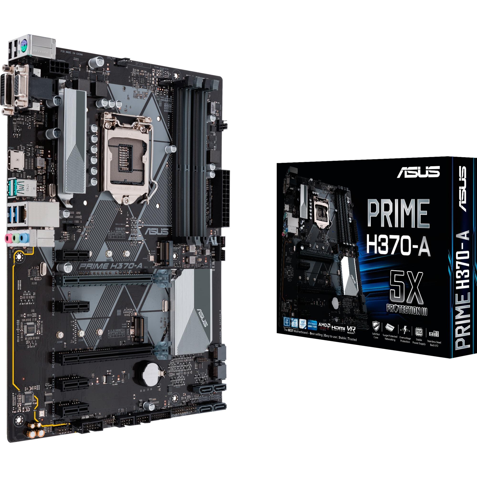 PRIME H370-A placa base LGA 1151 (Zócalo H4) ATX Intel H370