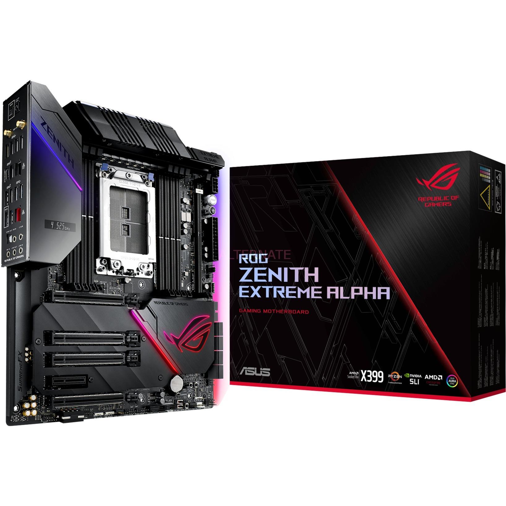 ROG Zenith Extreme Alpha placa base Socket TR4 ATX extendida AMD X399