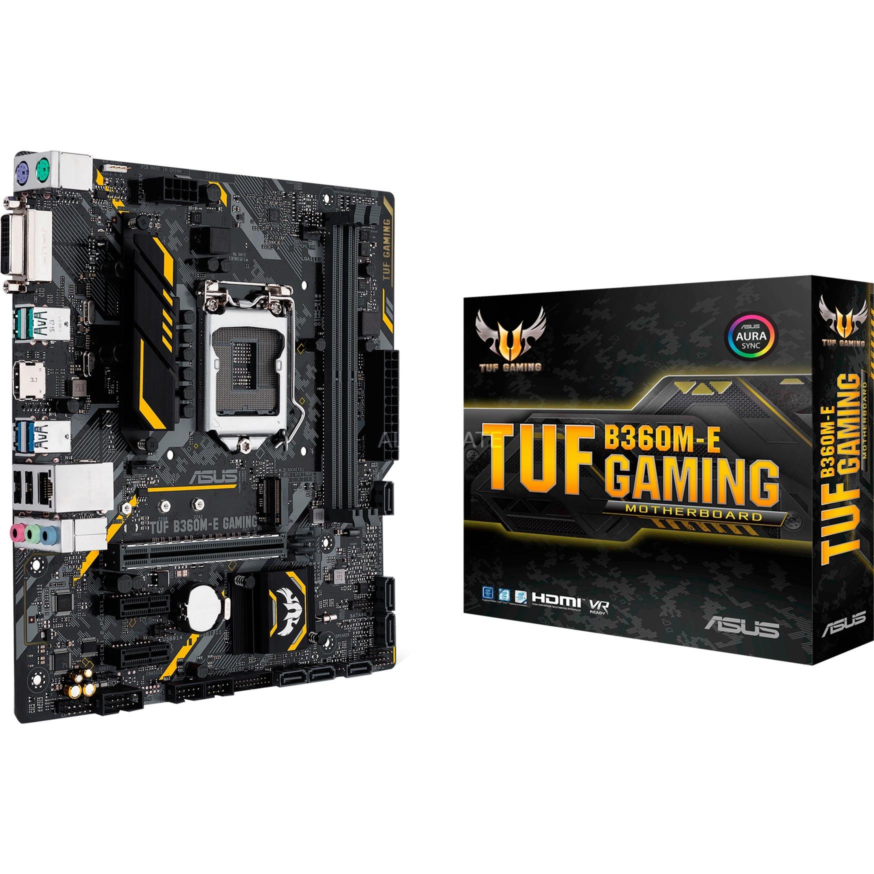 TUF B360M-E GAMING placa base LGA 1151 (Zócalo H4) Micro ATX Intel B360