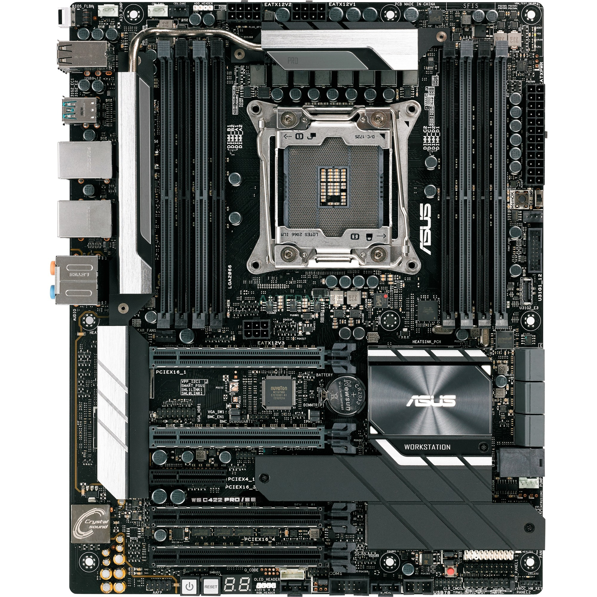 WS C422 PRO/SE placa base para servidor y estación de trabajo LGA 2066 (Socket R4) Intel C422 ATX