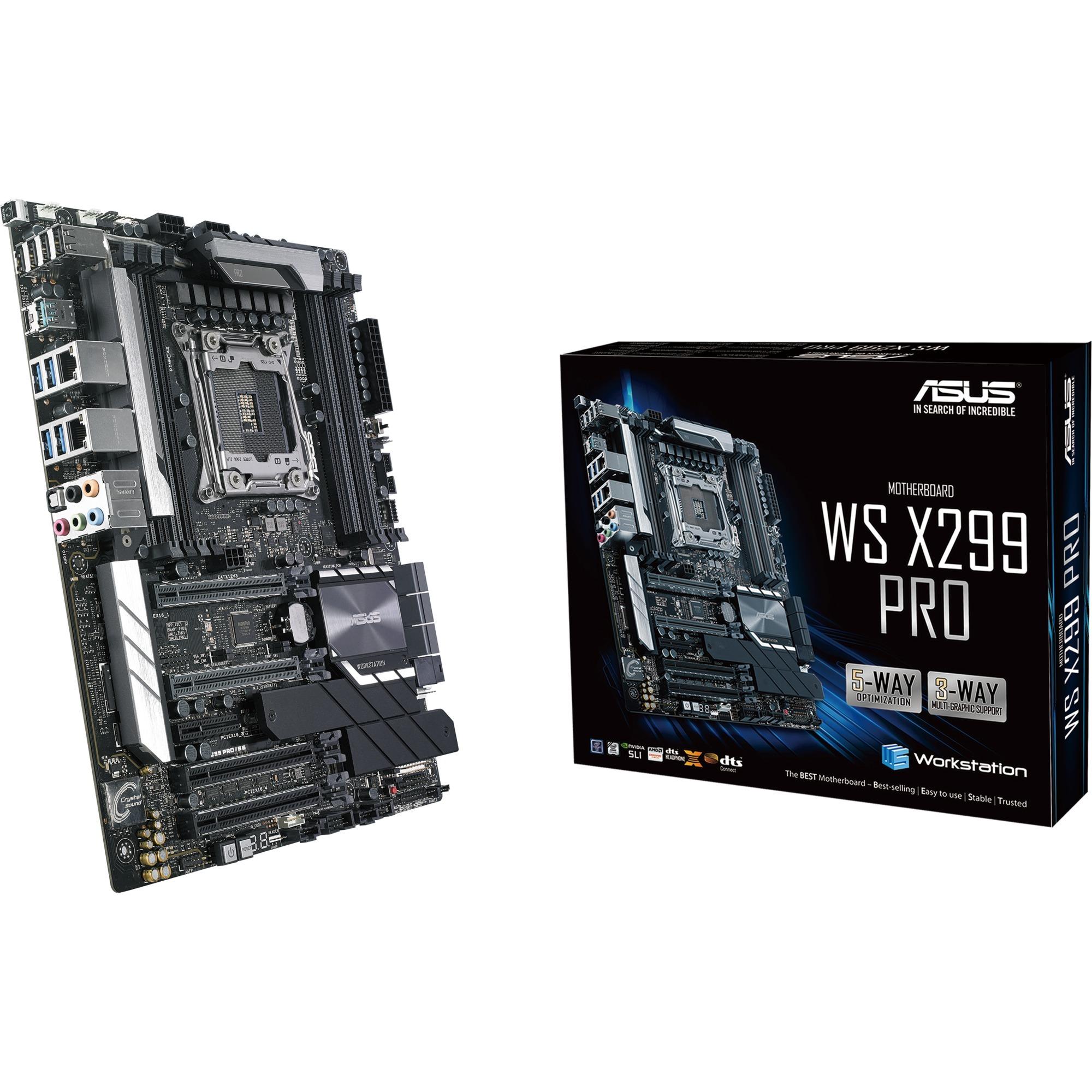 WS X299 PRO placa base para servidor y estación de trabajo LGA 2066 (Socket R4) Intel X299 ATX