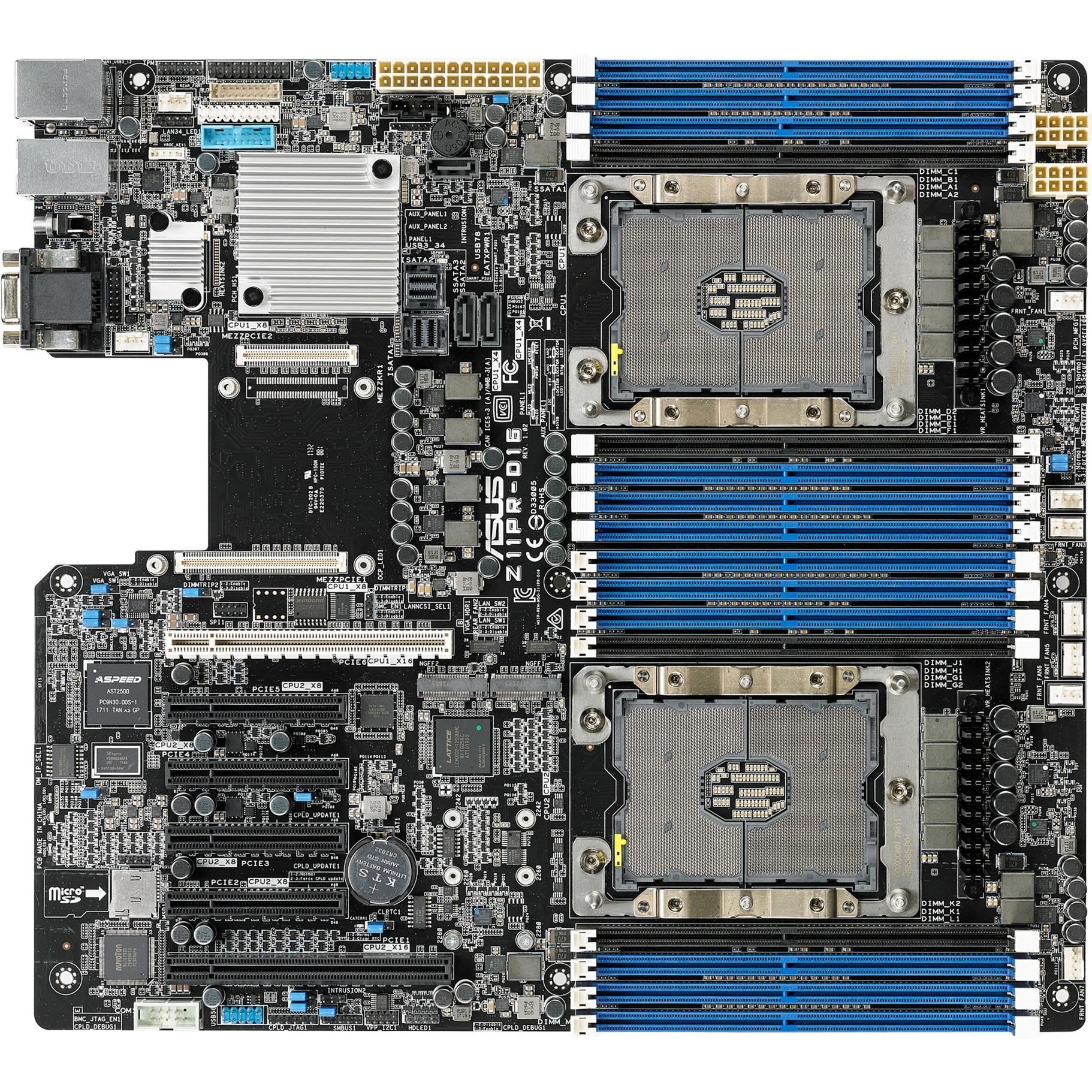 Z11PR-D16 placa base para servidor y estación de trabajo LGA 3647 (Socket P) Intel C621 SSI EEB