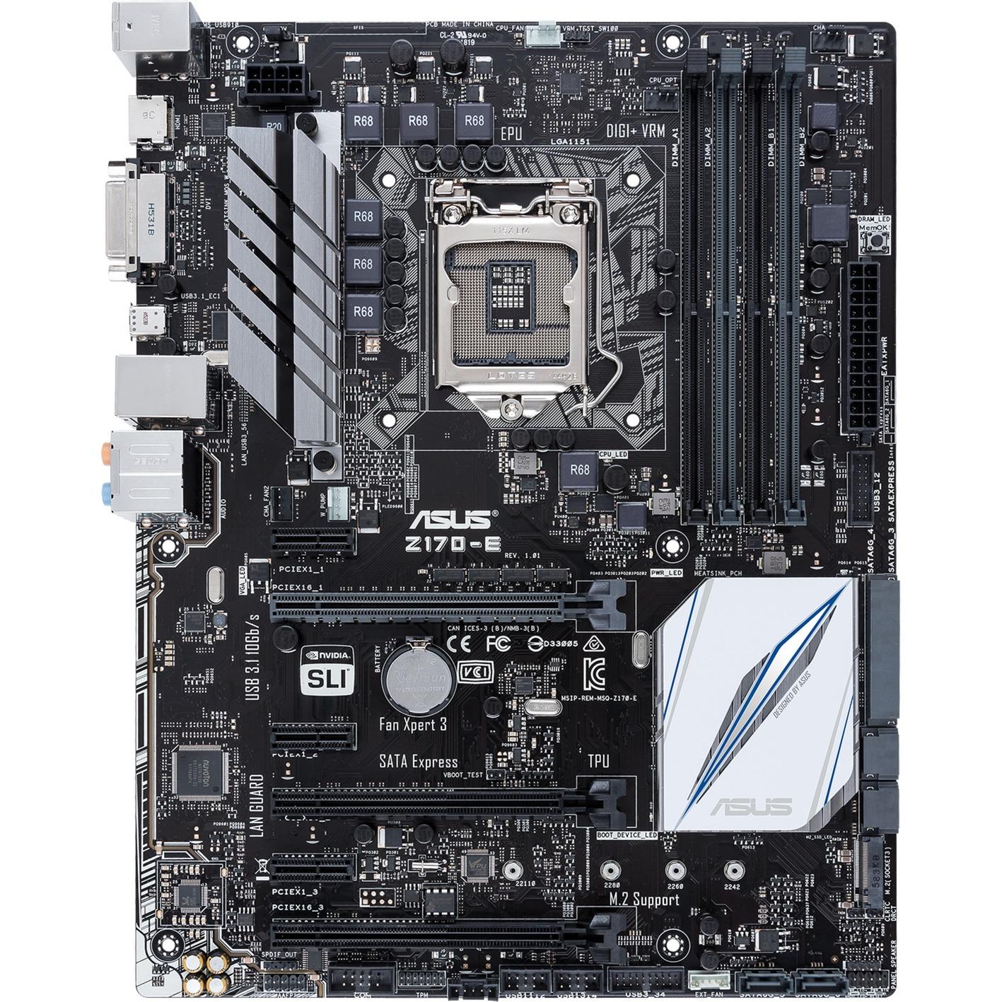 Z170-E Intel Z170 LGA 1151 (Socket H4) ATX placa base