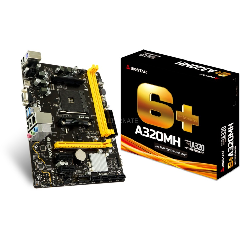 A320MH placa base Zócalo AM4 Micro ATX AMD A320