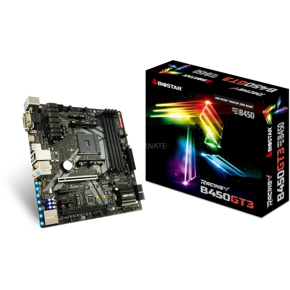 B450GT3 placa base Zócalo AM4 AMD B450 micro ATX