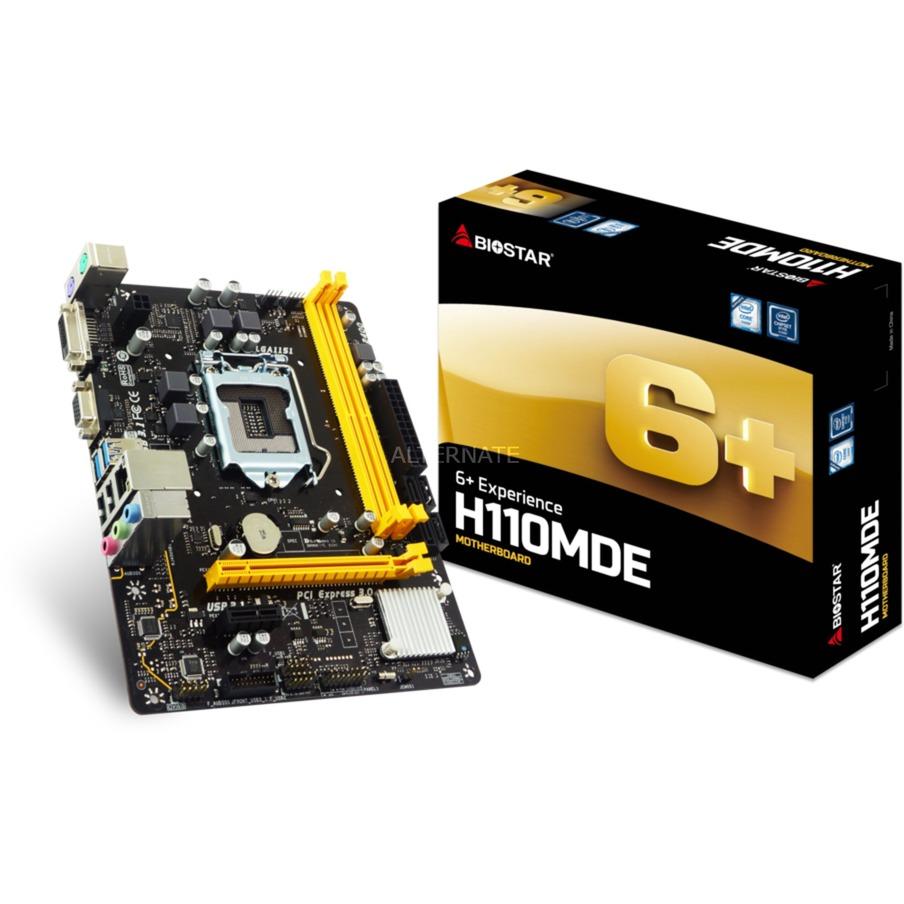 H110MDE placa base LGA 1151 (Zócalo H4) Intel H110 micro ATX