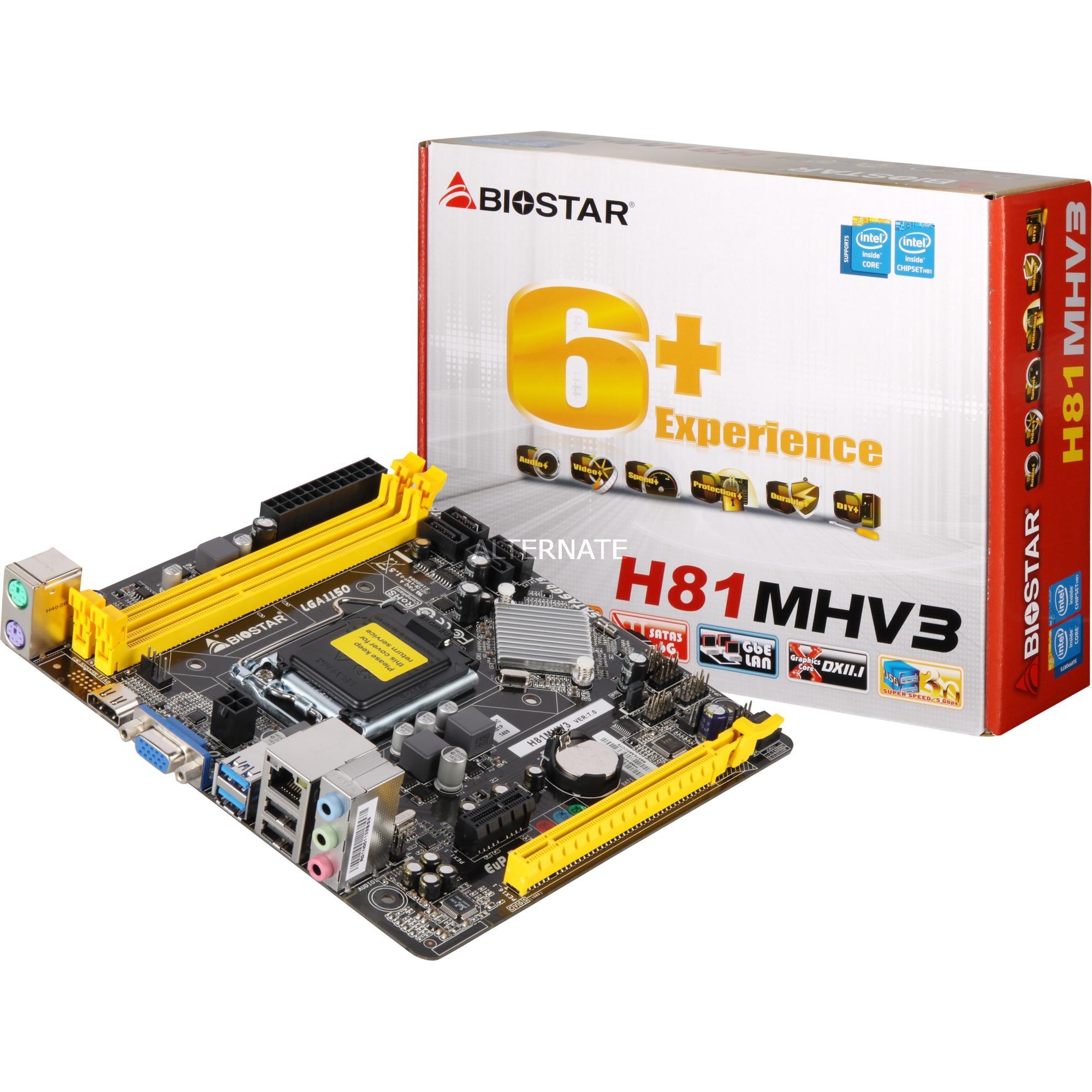 H81MHV3 Intel H81 LGA 1150 (Zócalo H3) Micro ATX placa base