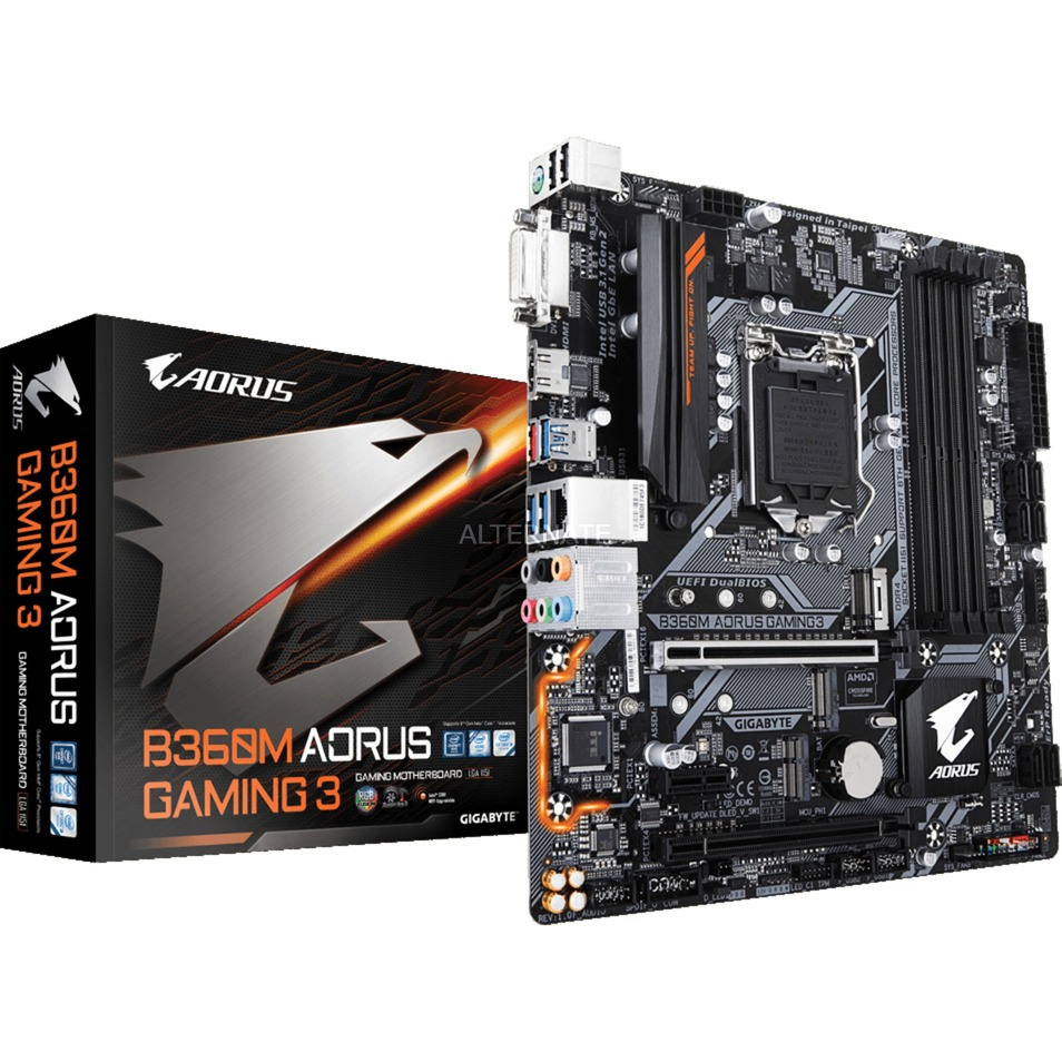 B360M AORUS GAMING 3 placa base LGA 1151 (Zócalo H4) Intel B360 micro ATX