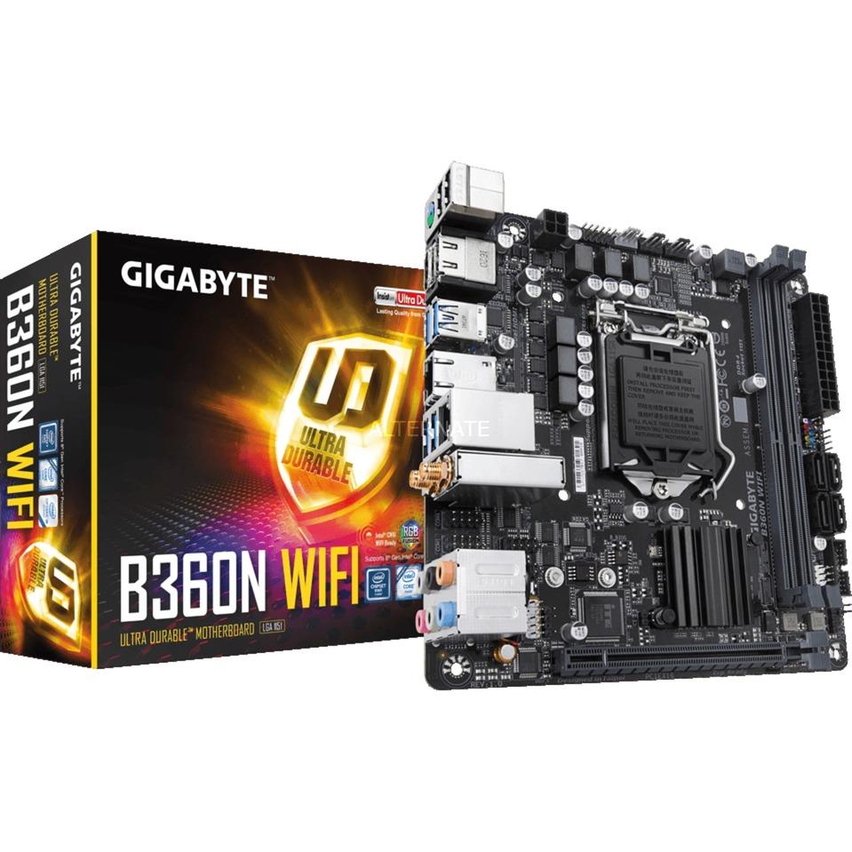 B360N WIFI Intel B360 Express LGA 1151 (Zócalo H4) Mini ITX placa base