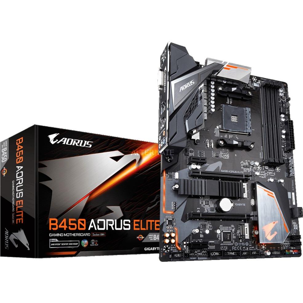B450 AORUS ELITE placa base Zócalo AM4 AMD B450 ATX