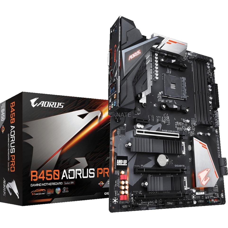 B450 AORUS PRO placa base Zócalo AM4 AMD B450 ATX
