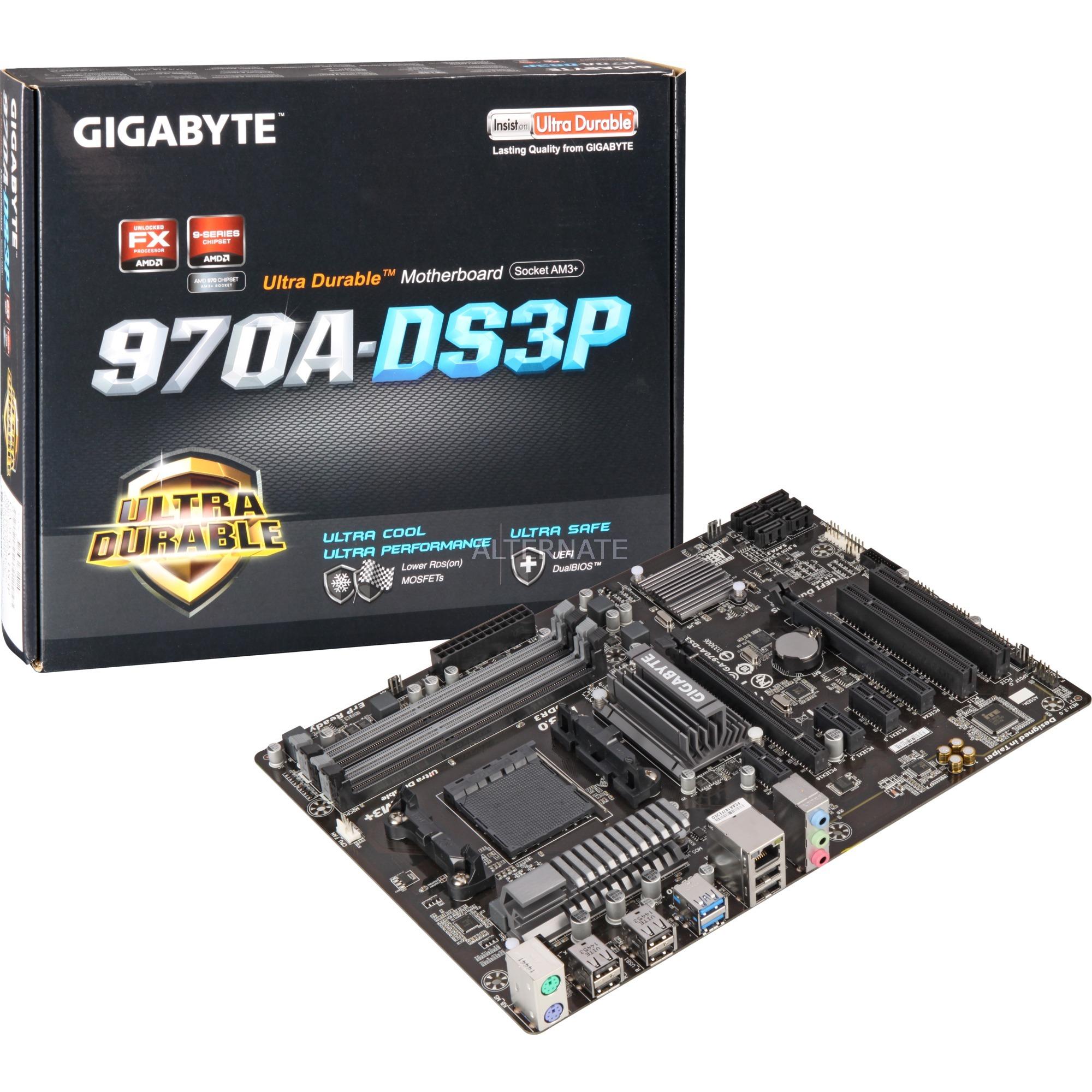 GA-970A-DS3P placa base Socket AM3+ AMD 970 ATX