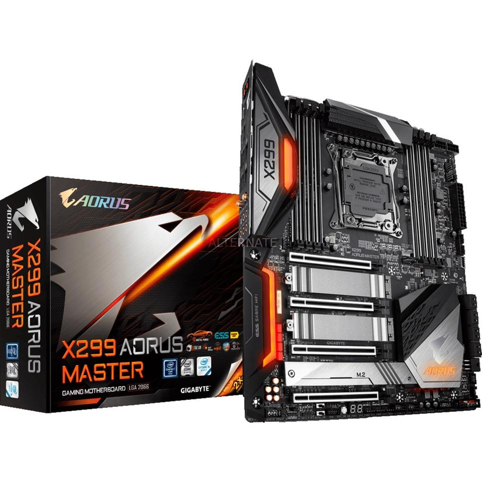 X299 AORUS MASTER (rev. 1.0) LGA 2066 Intel X299 ATX extendida, Placa base