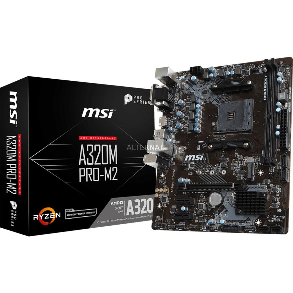 A320M PRO-M2 Zócalo AM4 AMD A320 micro ATX, Placa base