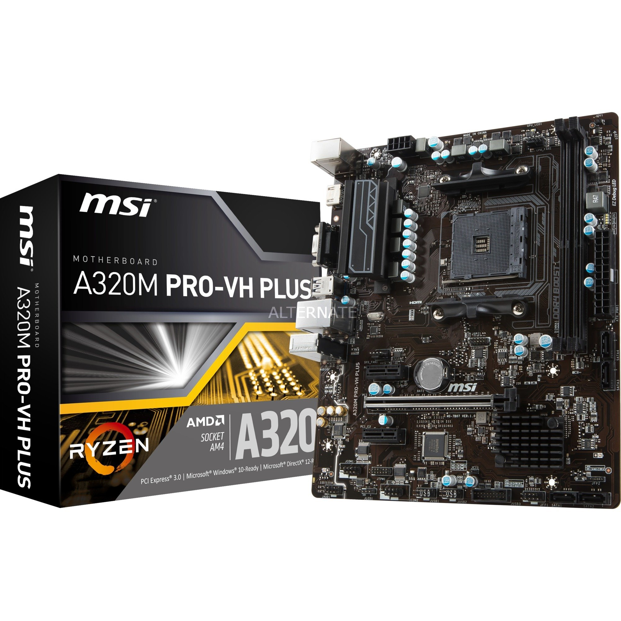 A320M PRO-VH PLUS Zócalo AM4 AMD A320 micro ATX, Placa base