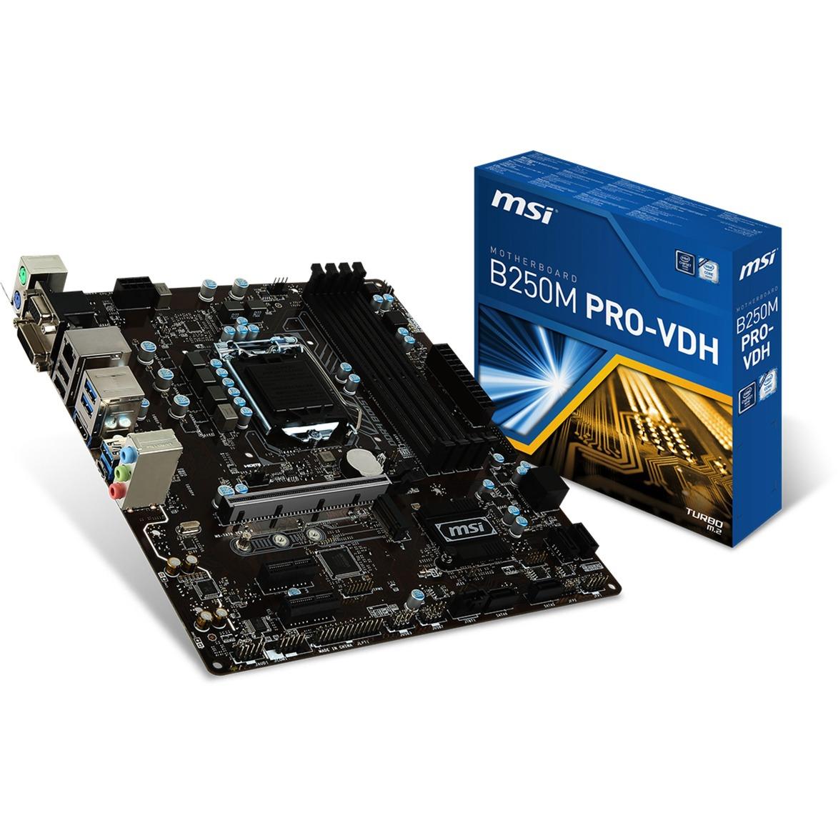 B250M PRO-VDH LGA 1151 (Zócalo H4) Intel B250 micro ATX, Placa base